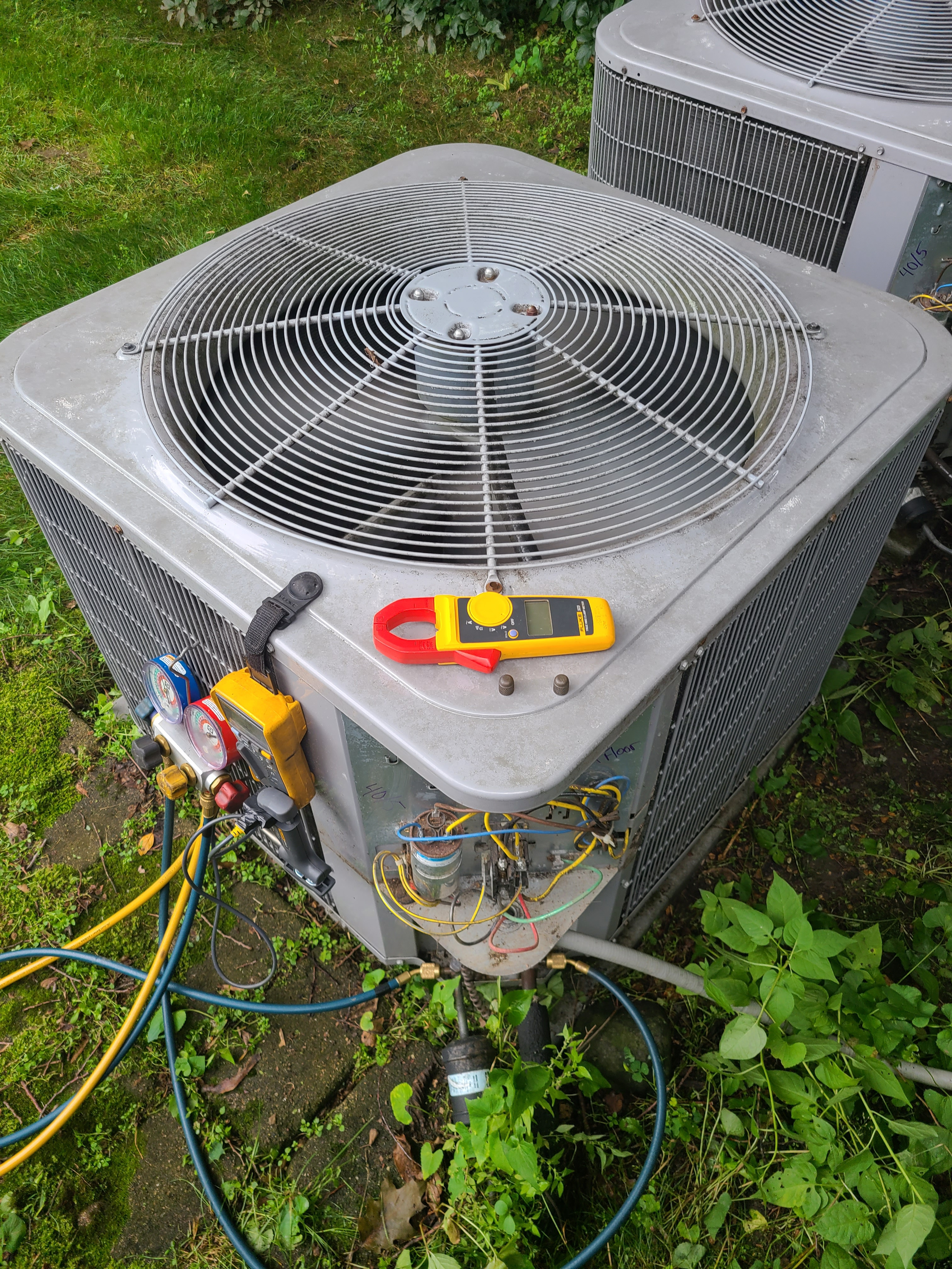 Carrier ac system summer maintenance.  System cleaned and checked and ready for summer.