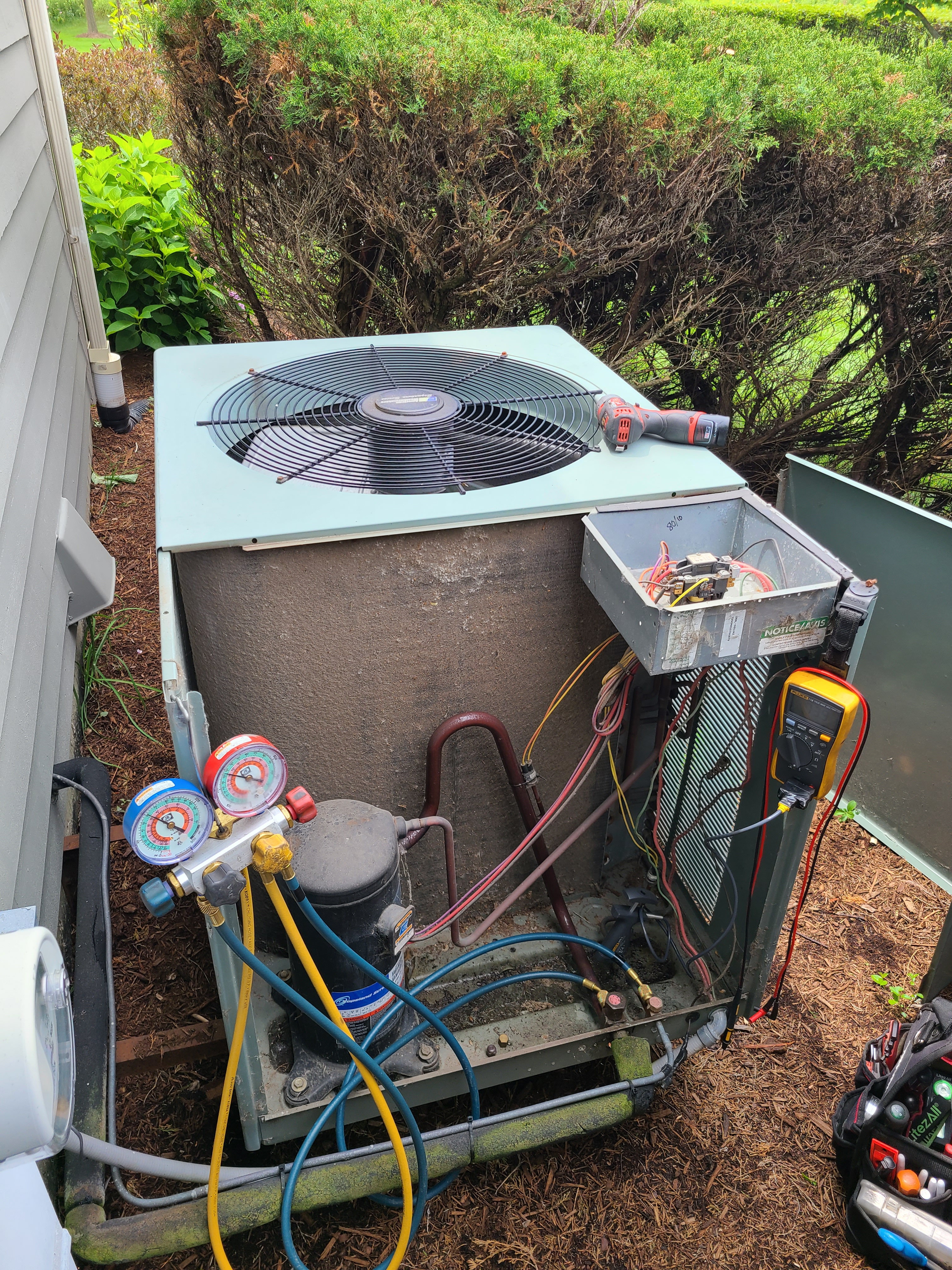 Ruud ac system summer maintenance.  System cleaned and checked and ready for summer.
