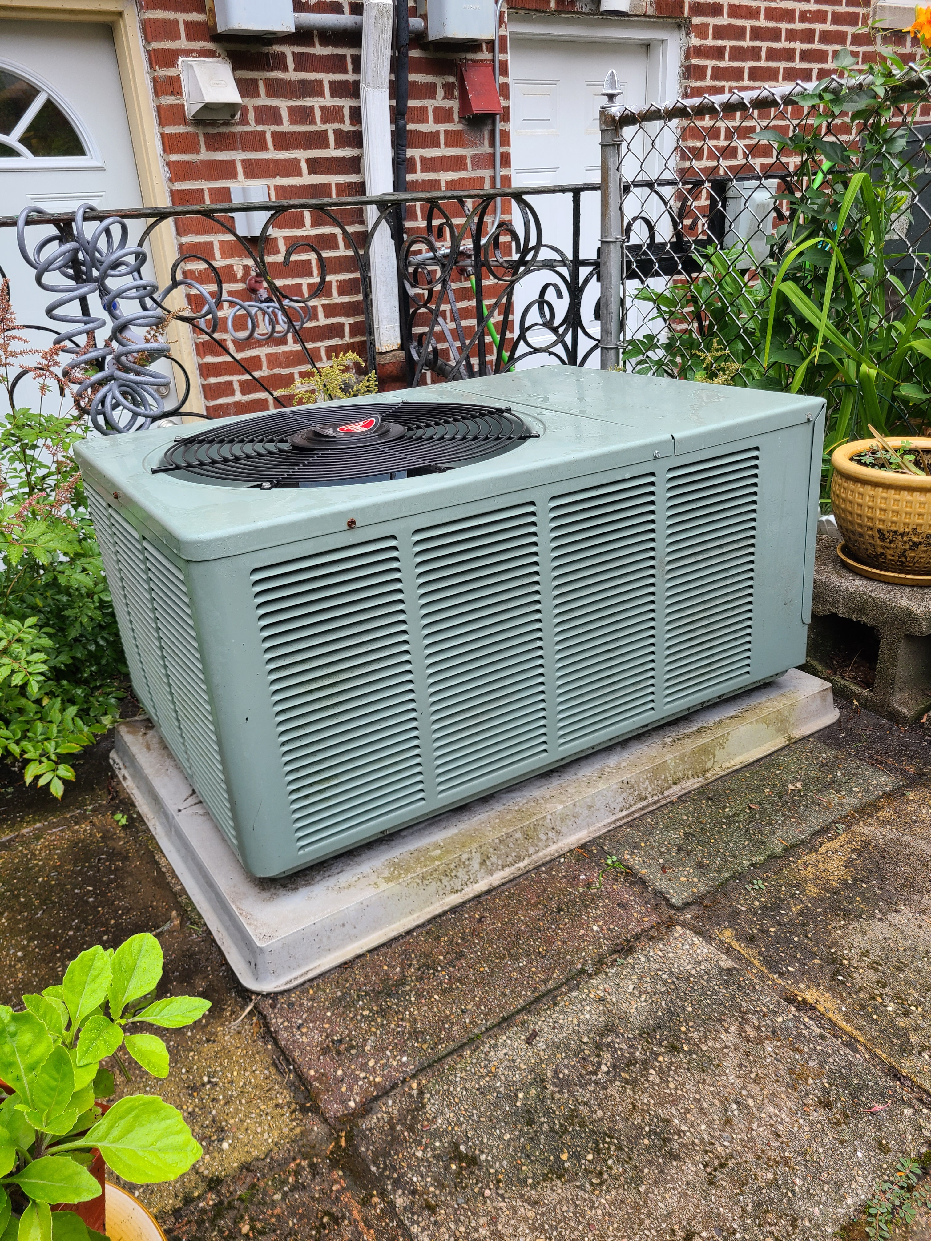 RHEEM R22 system cleaned and tested