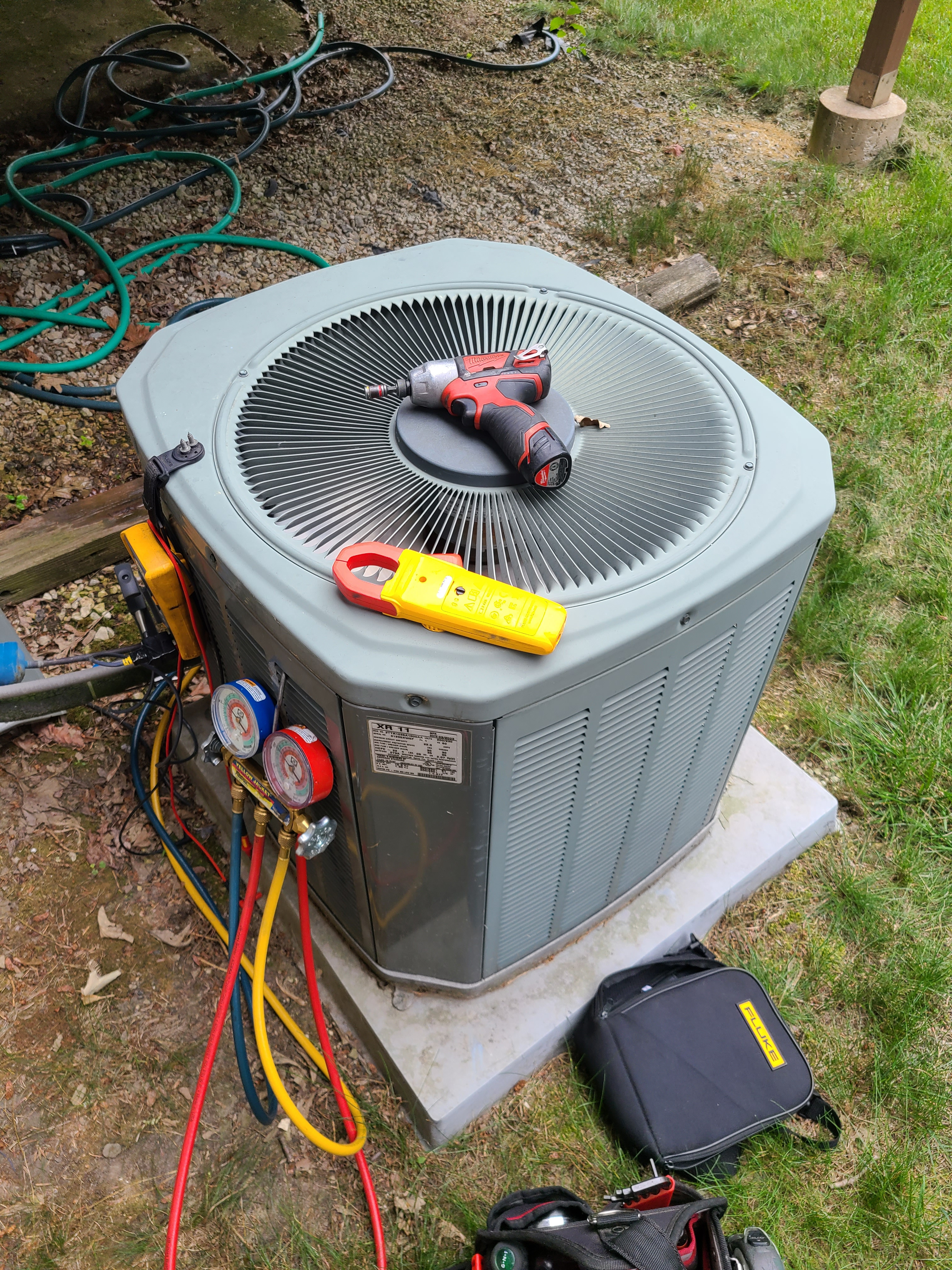 Trane ac system summer maintenance.  System cleaned and checked and ready for summer.