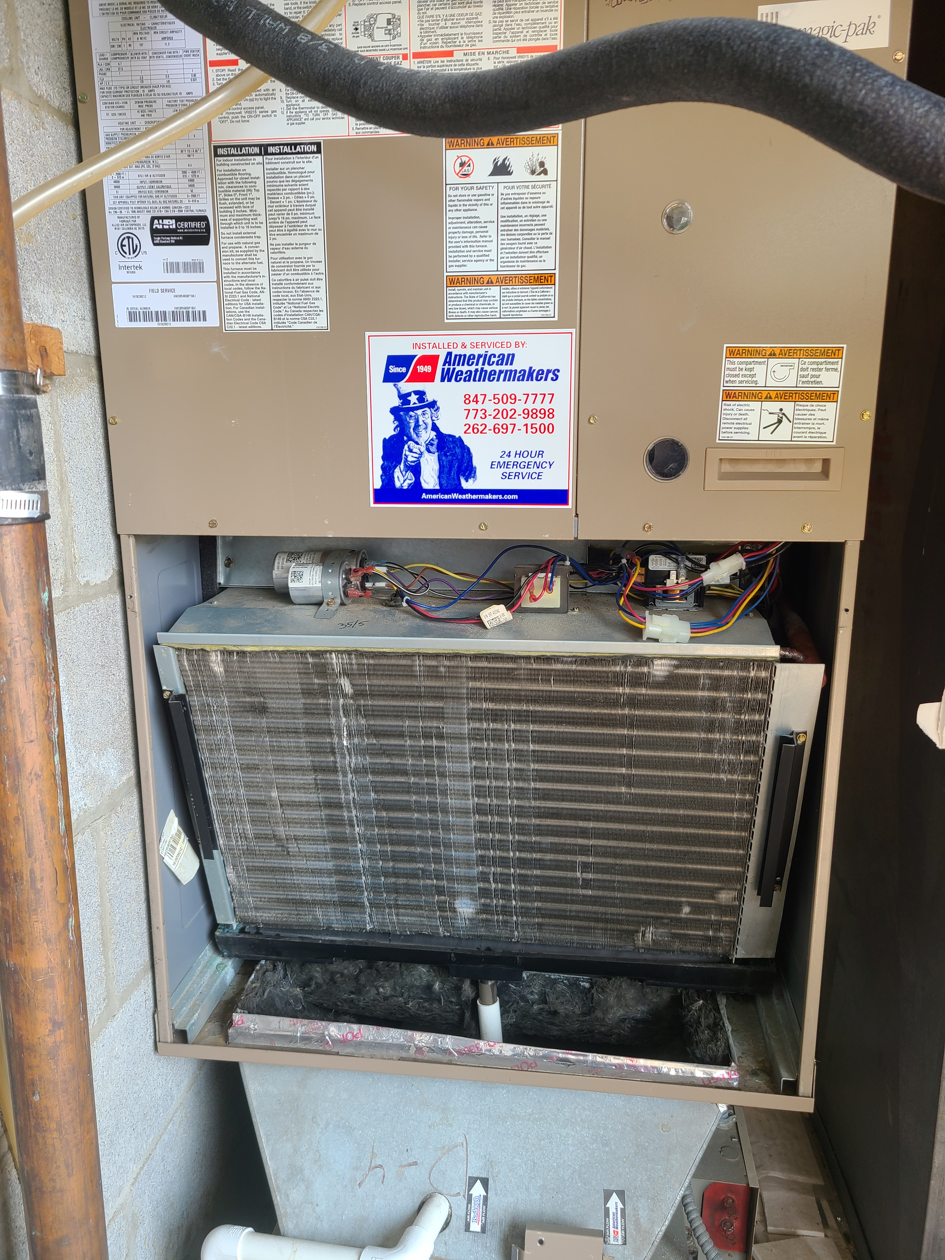 Armstrong package heating and air-conditioning system