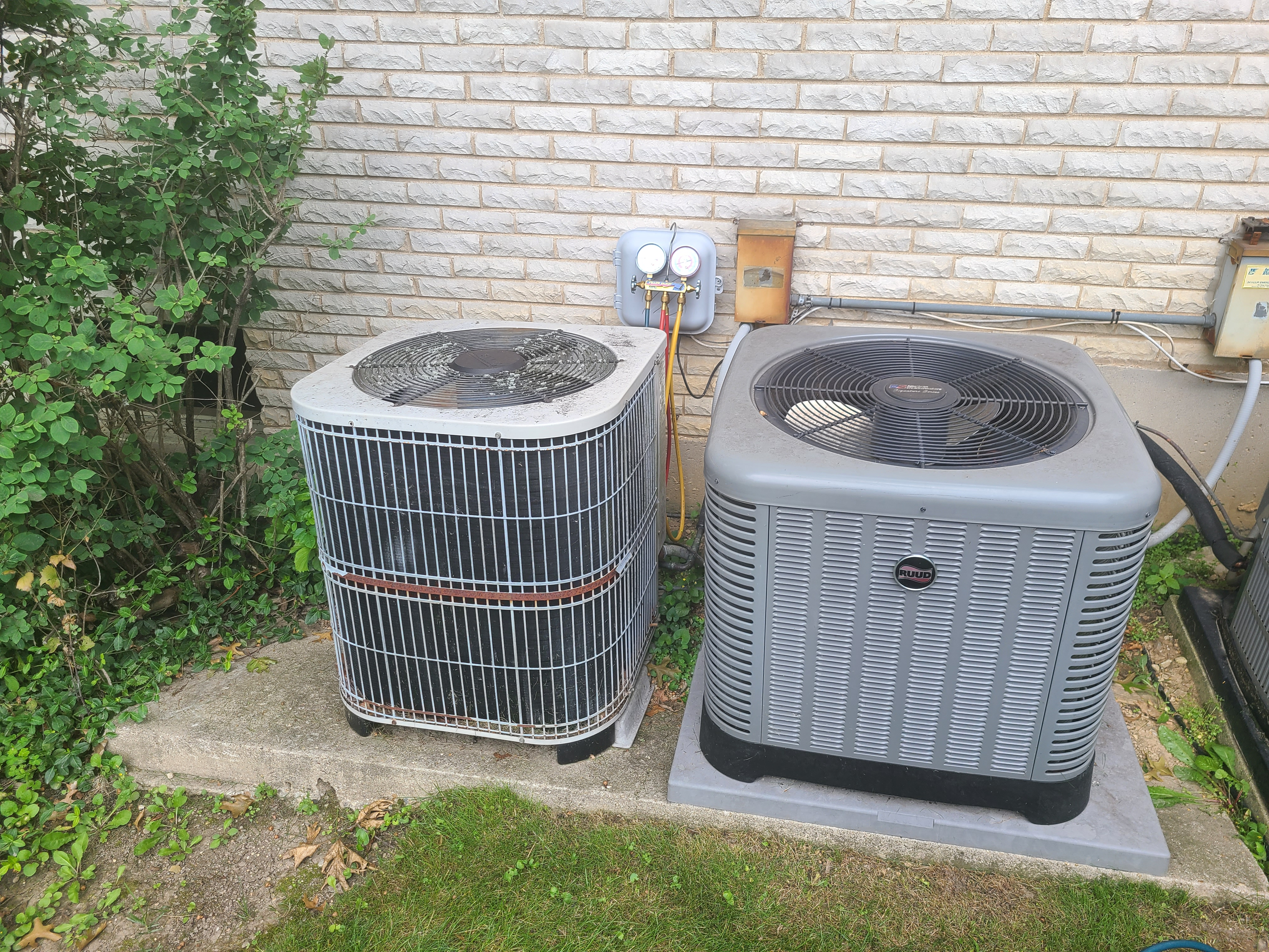 ac system summer maintenance.  System cleaned and checked and ready for summer.