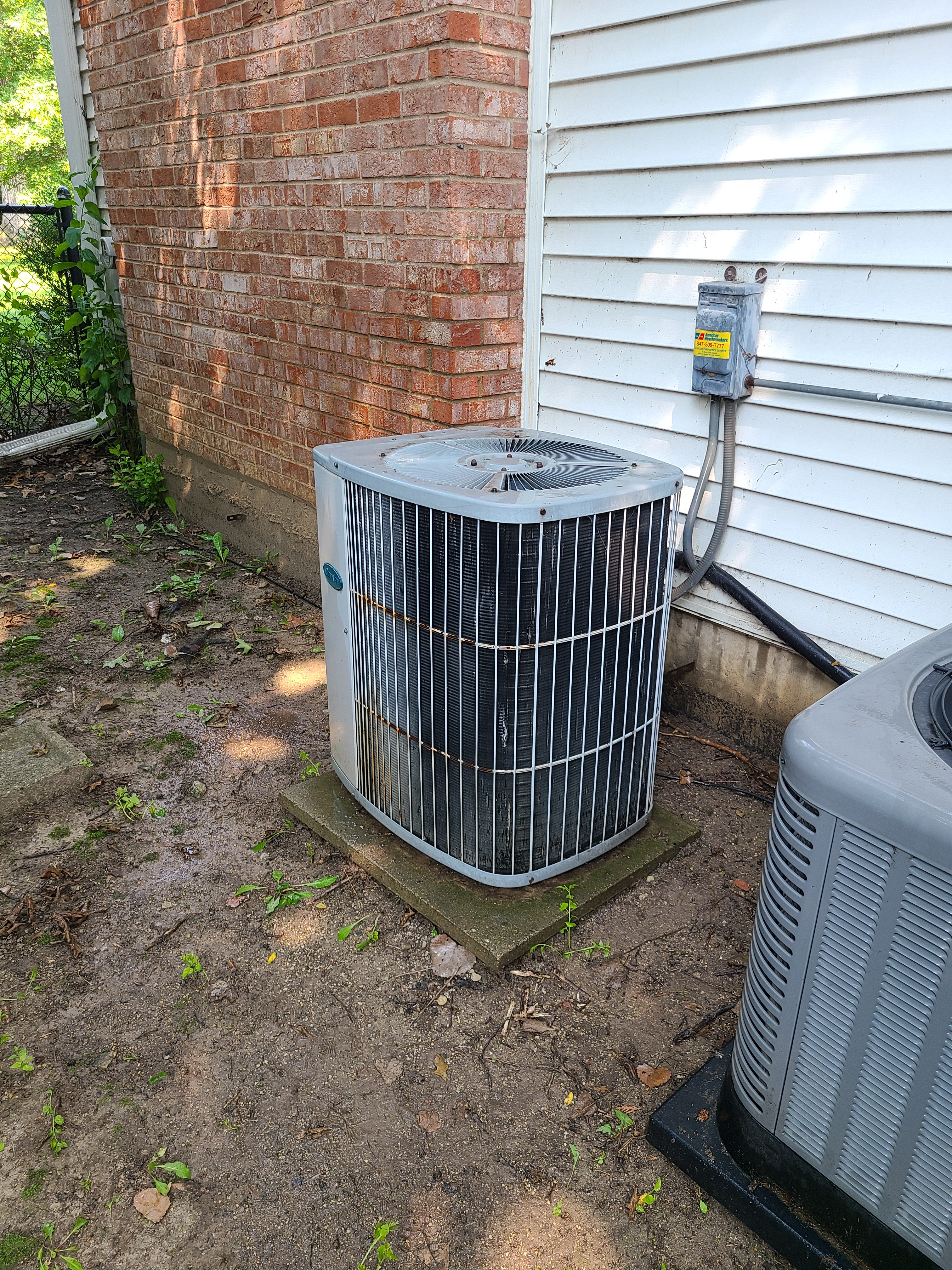 Carrier ac summer tune up and maintenance. System cleaned and checked and ready for summer.