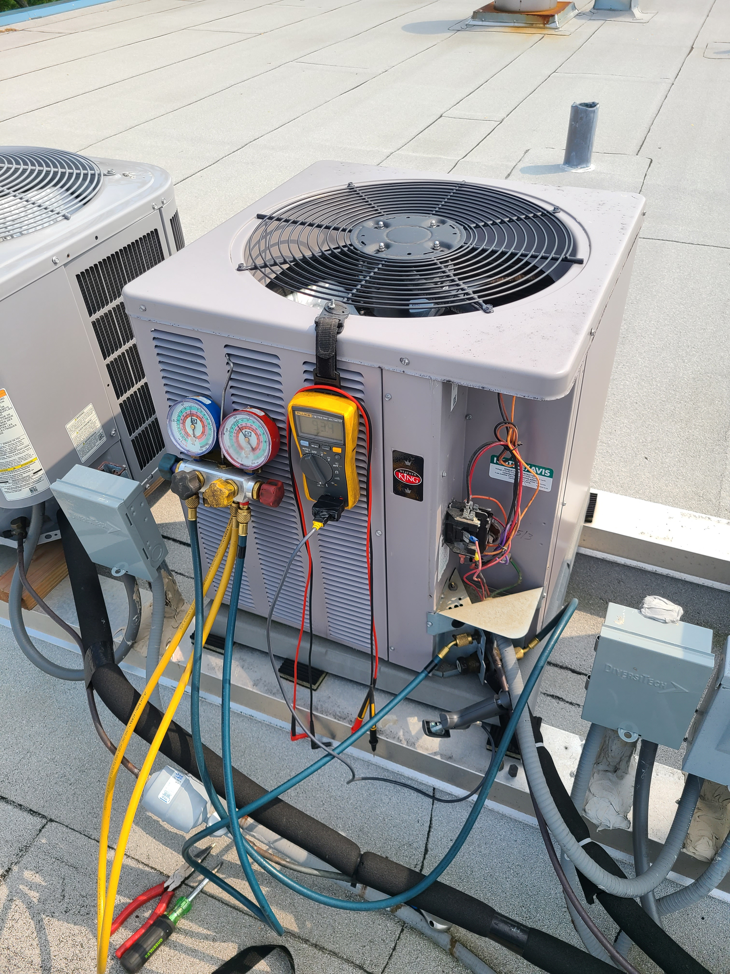 Weather king ac summer tune up and maintenance. System cleaned and checked and ready for summer.