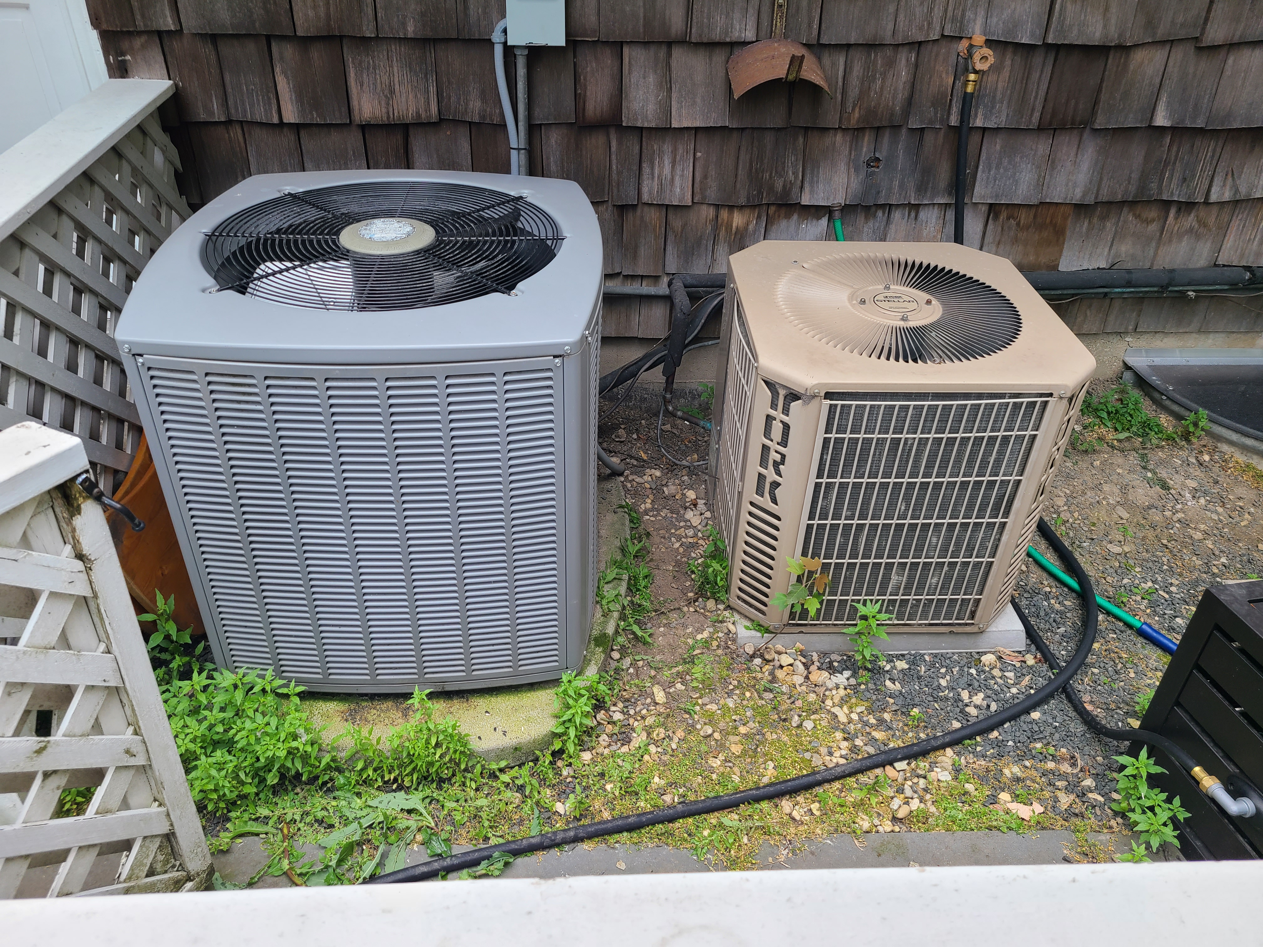 Maintenance on ac systems   2 units york and Armstrong  beautiful day in Winnetka