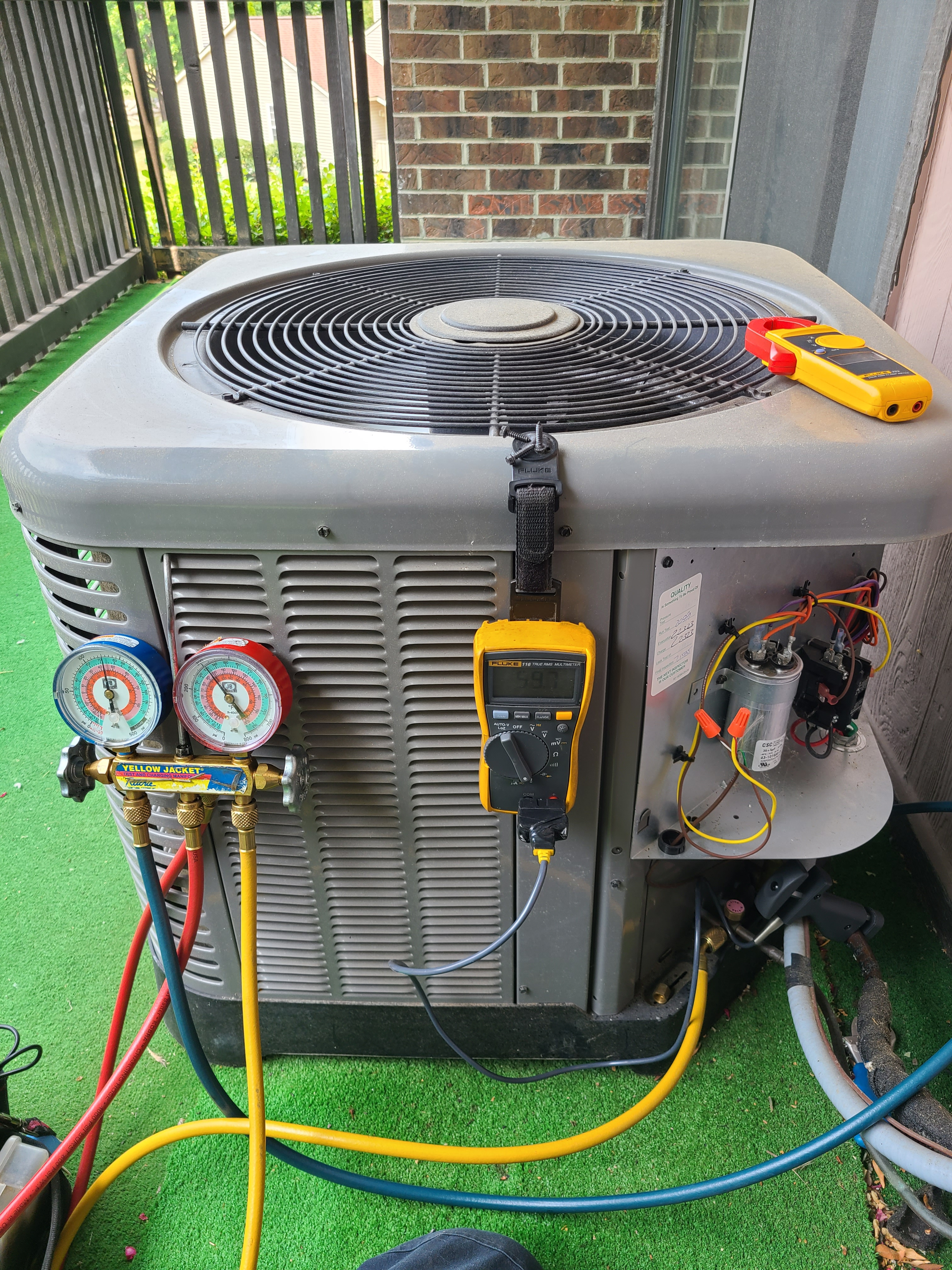 Ruud ac summer tune up and maintenance. System cleaned and checked and ready for summer.