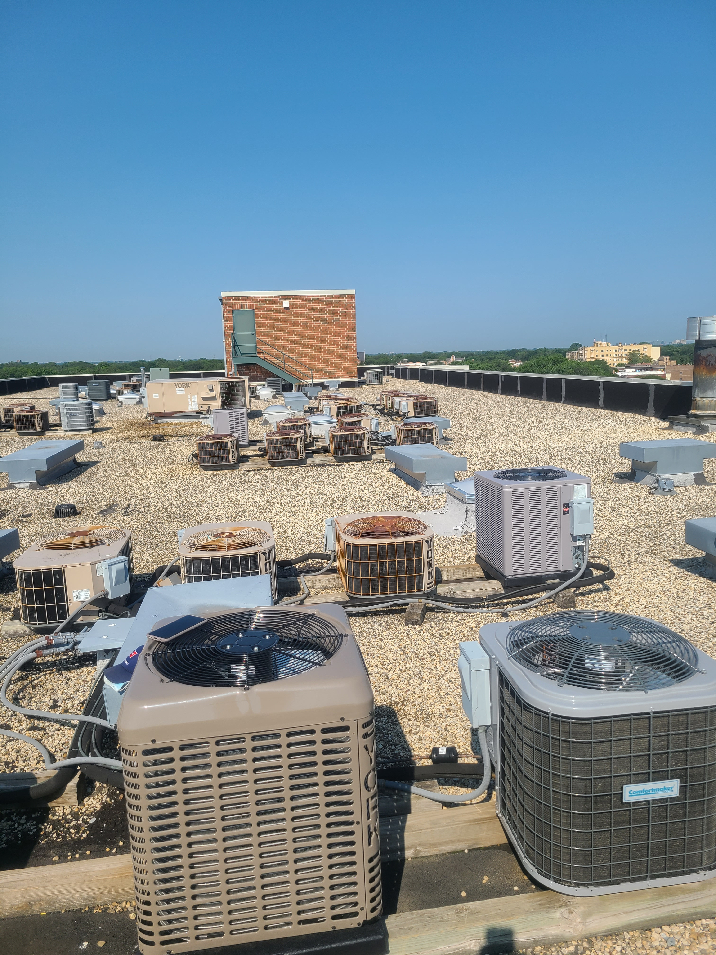 Ac maintenance  2 systems in Evanston high rise