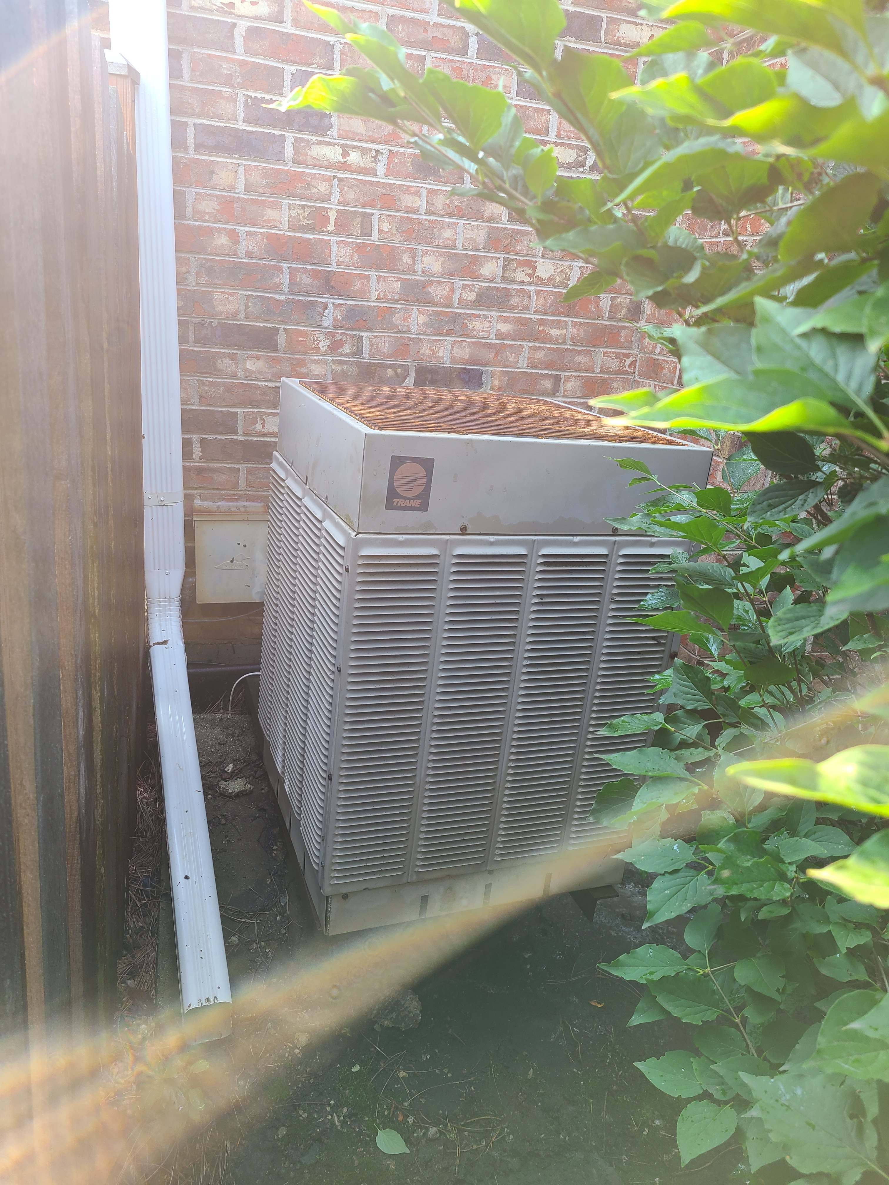 Working on ac old trane system  Arlington heights