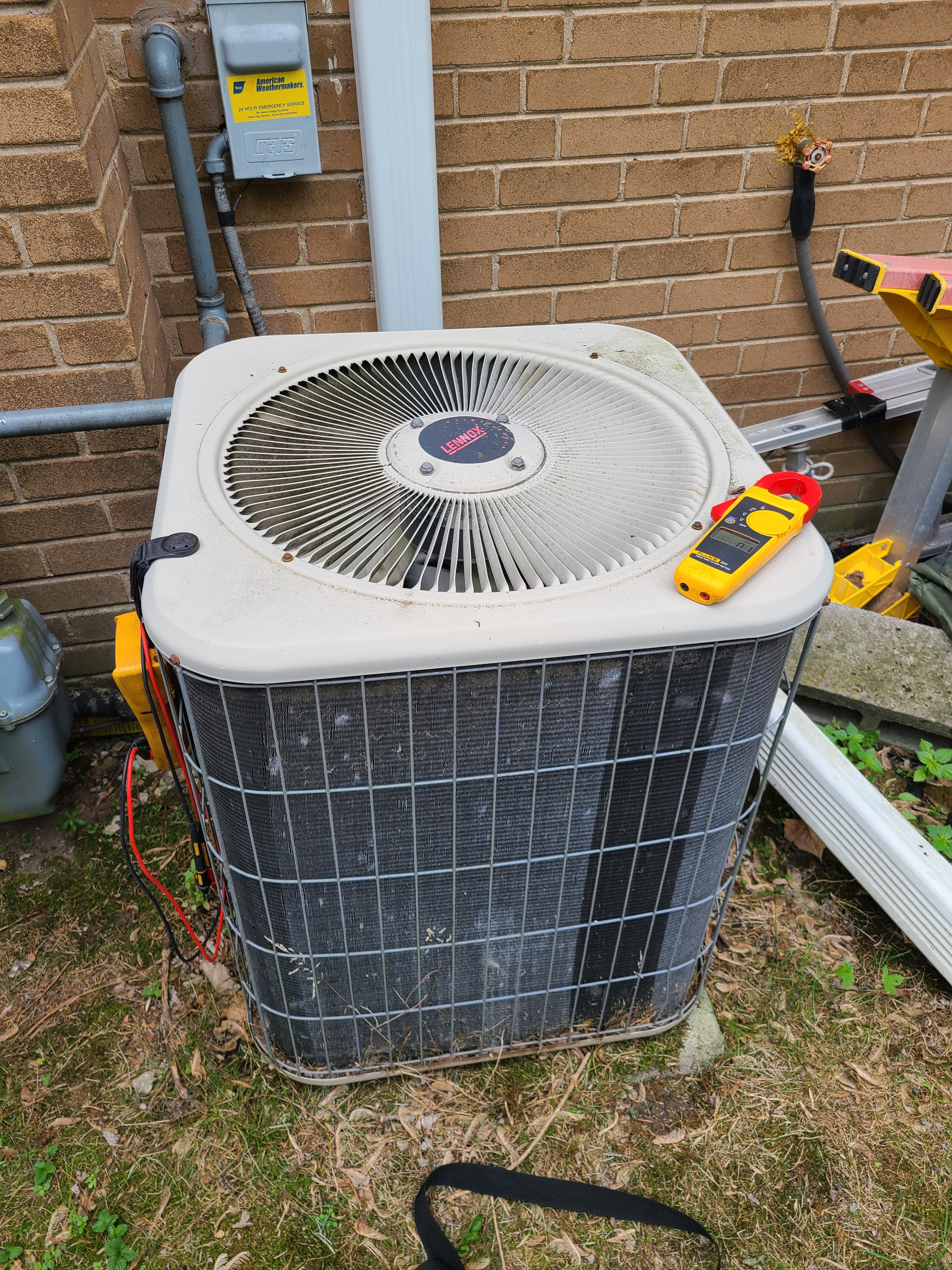 Lennox ac summer tune up. System cleaned and checked and ready for summer.