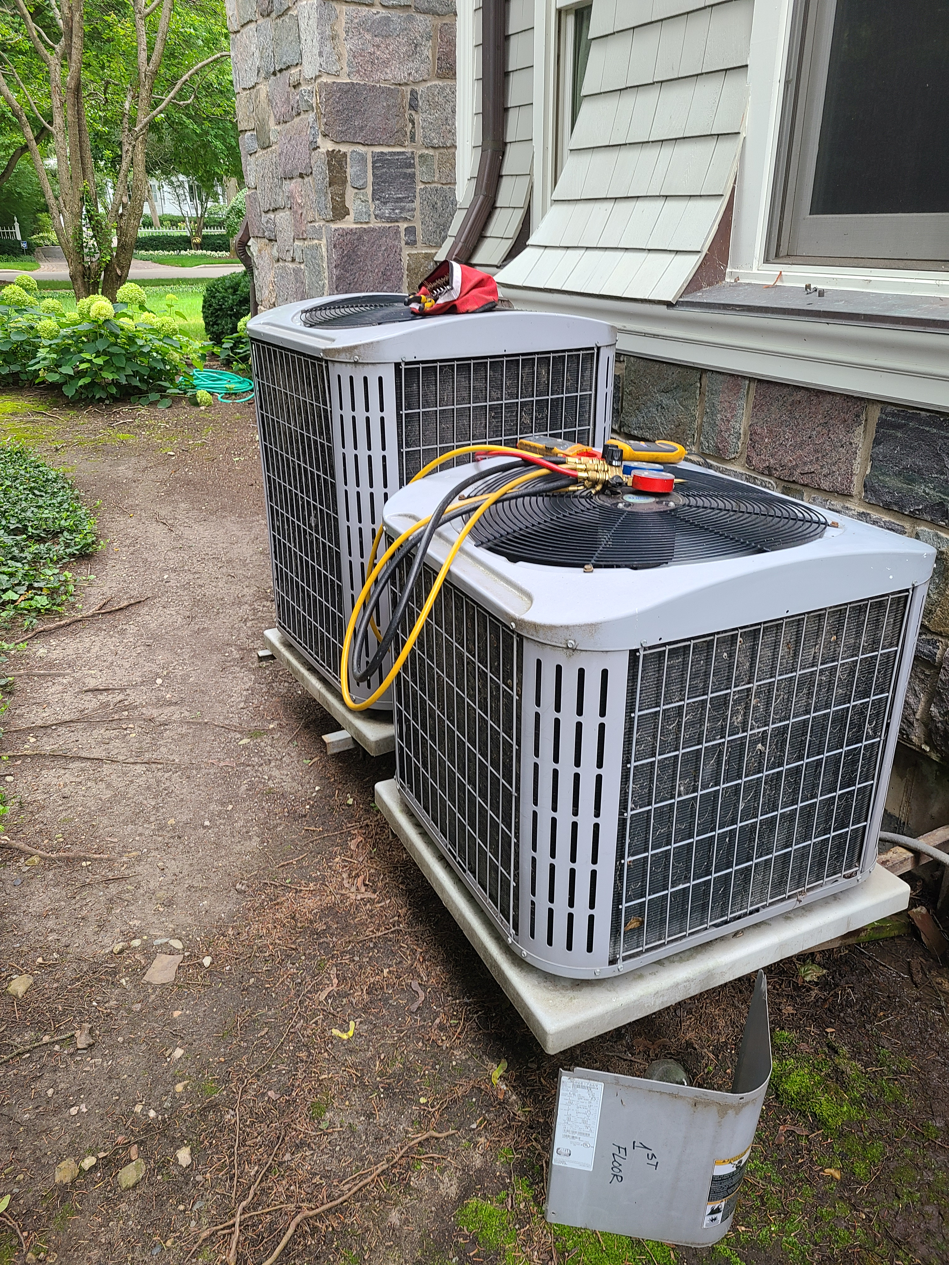Maintenance is being performed on Heil hvac systems  Winnetka