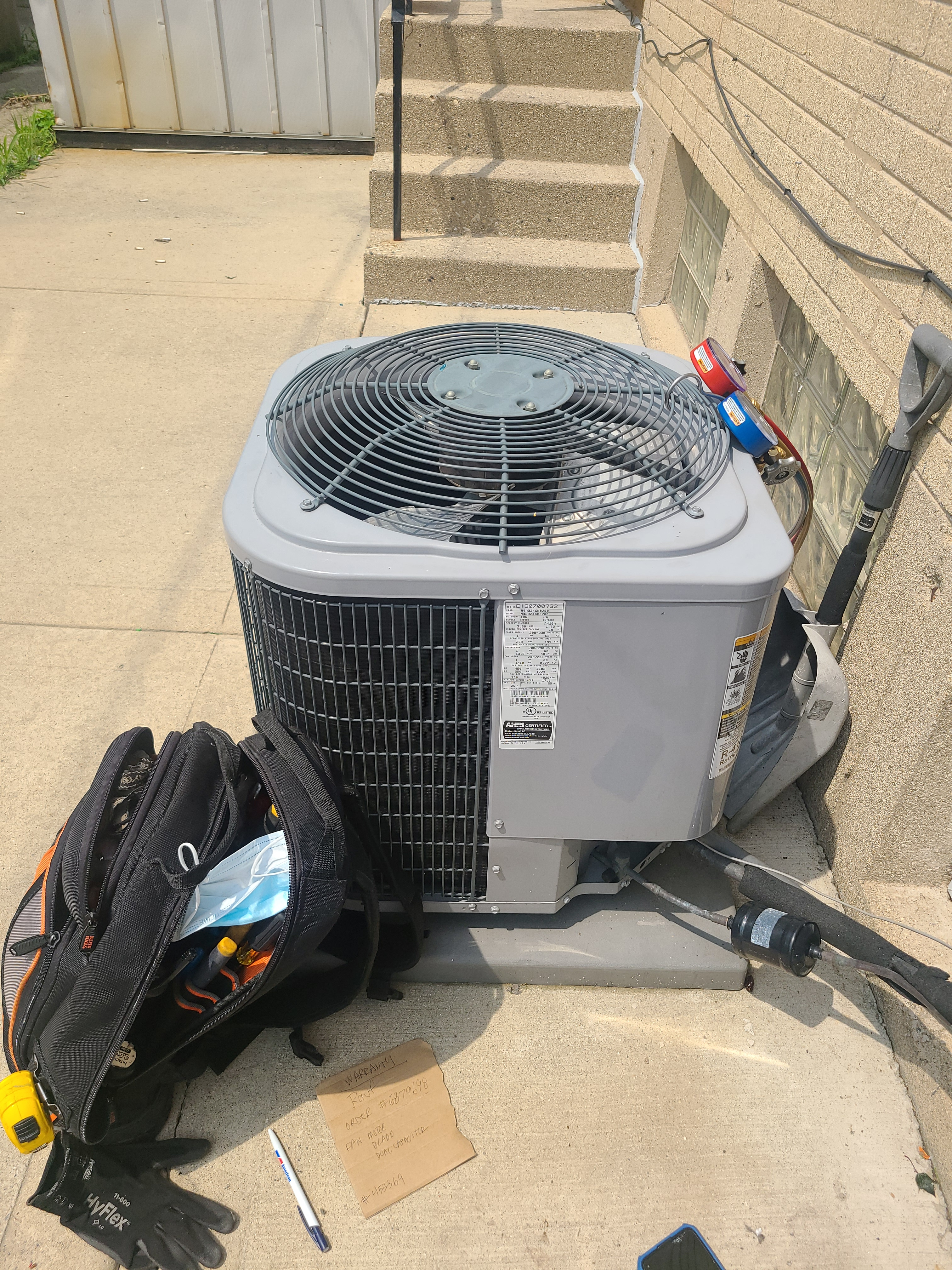 Repairs to Kenmore AC in Niles. Unit under warranty.