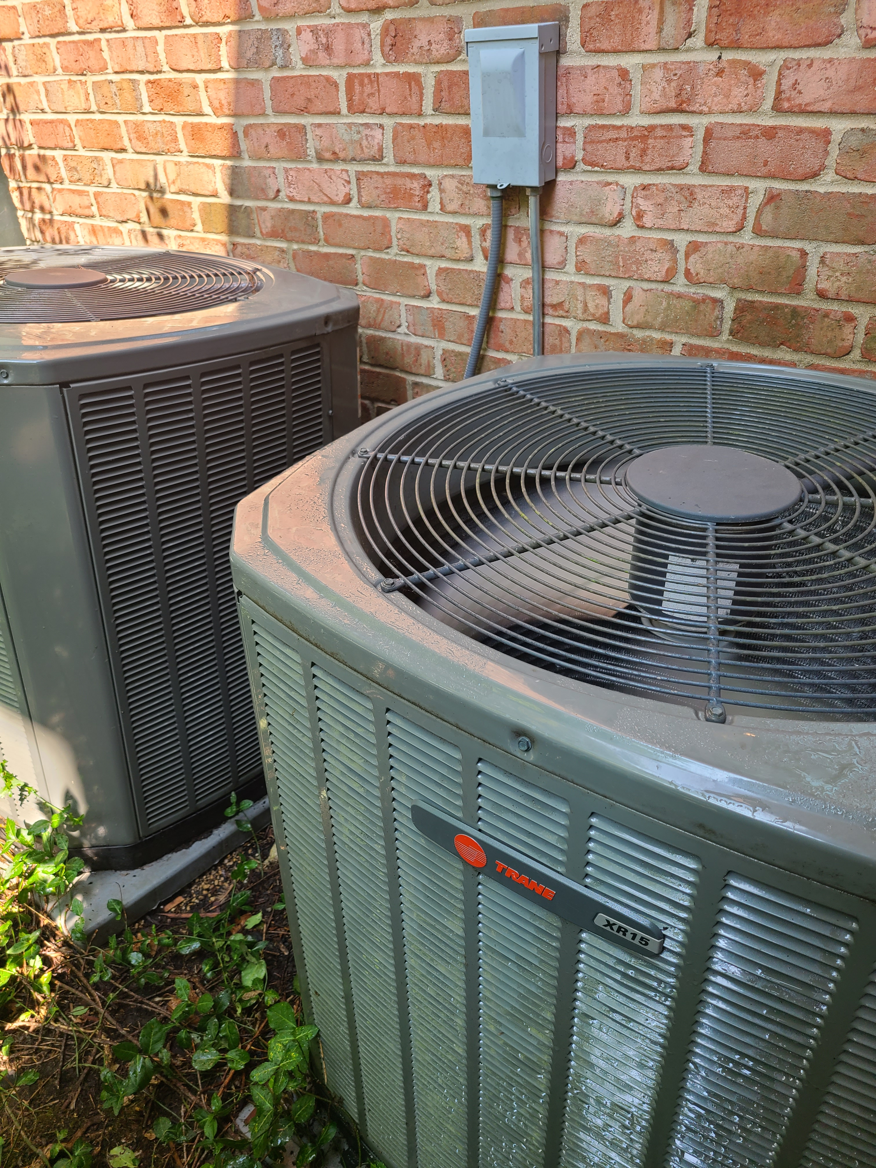 Performed preventative maintenance on two Trane American Standard R410A systems to extend the life of the units. Checked voltage, amperage, temperatures, pressures, and microfarads. Washed both condenser coils thoroughly.