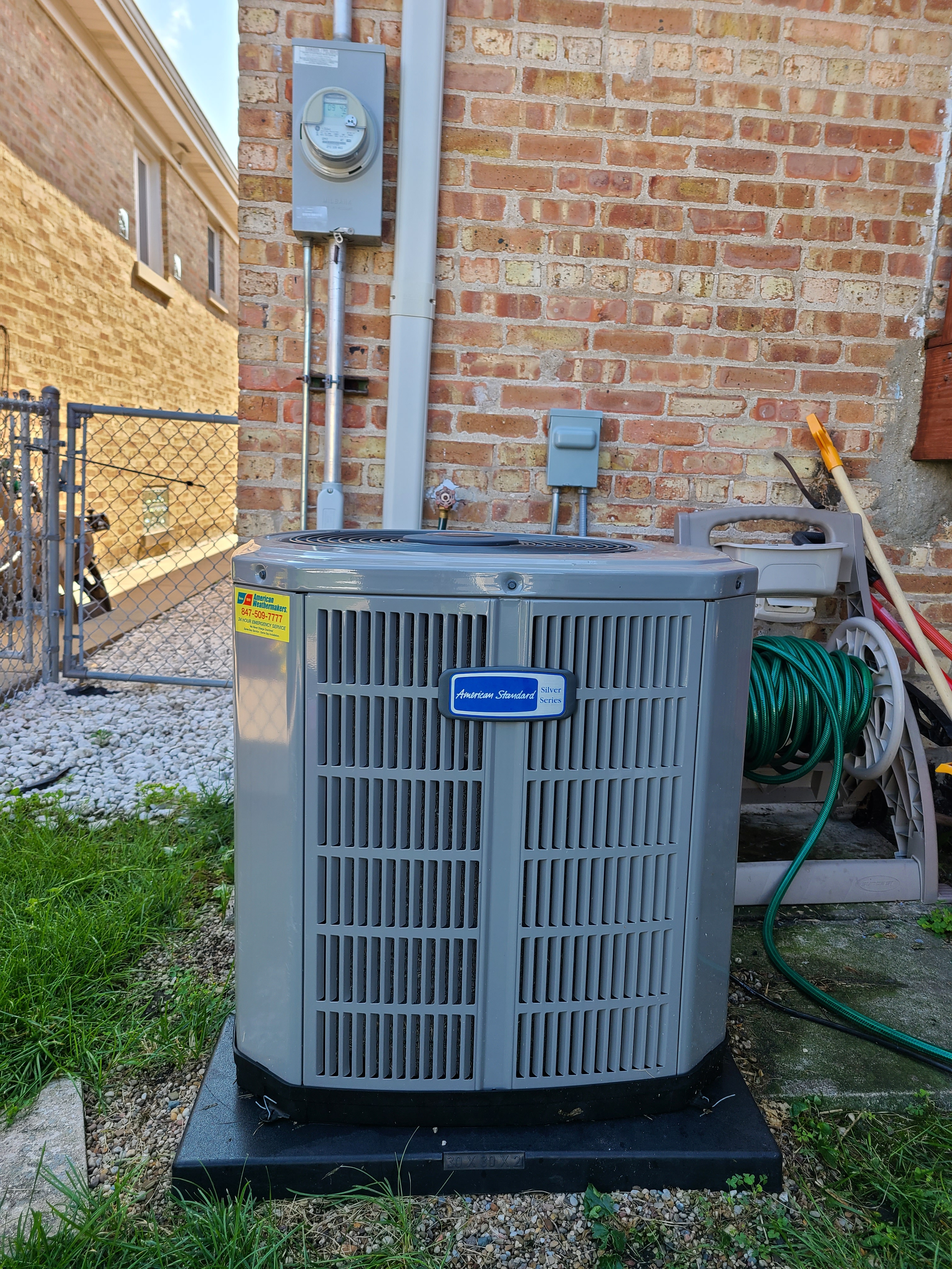 Photo of American Standard condenser after CTS