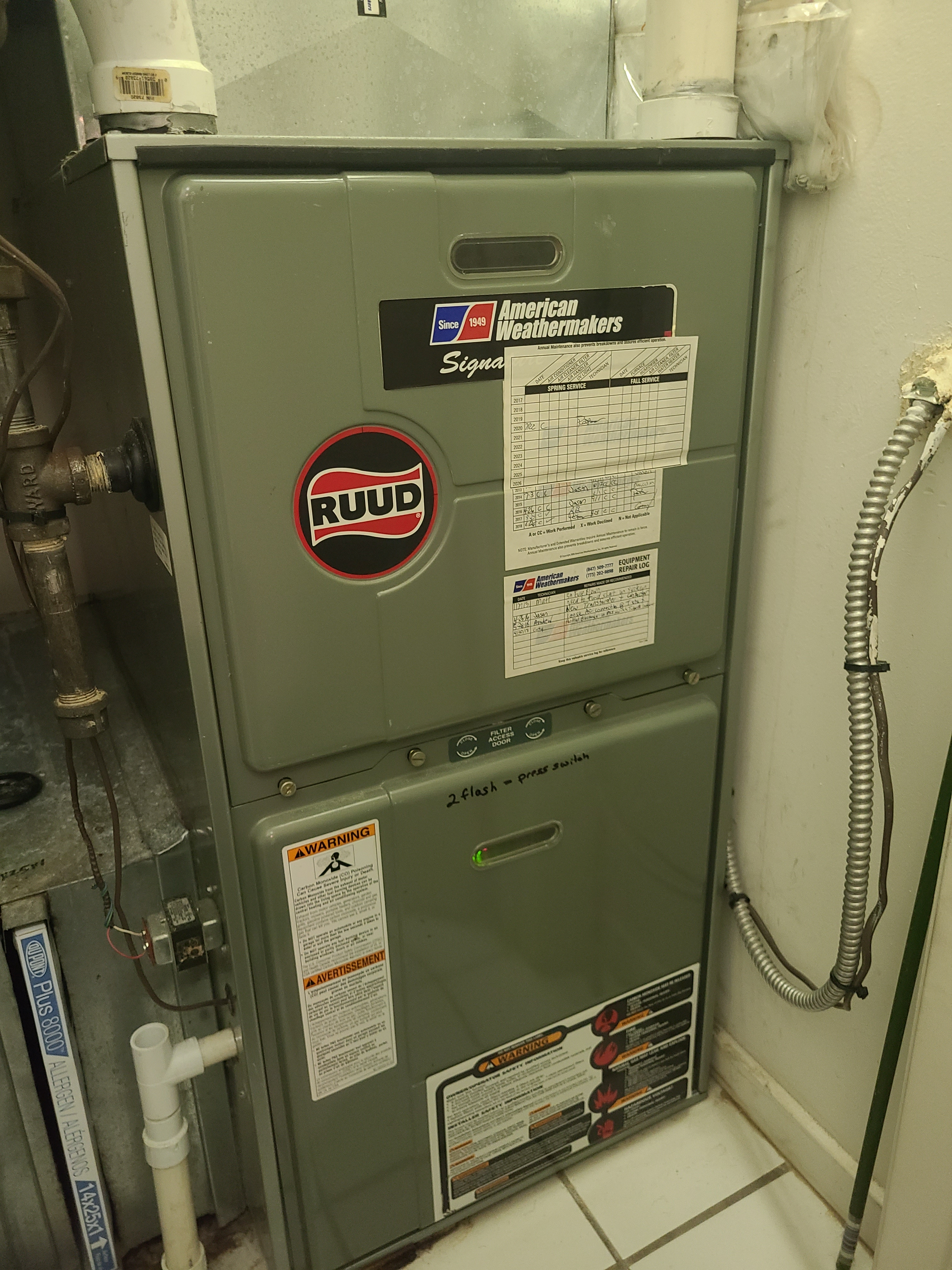 Ruud air conditioning no cooling issue diagnosed and repaired.