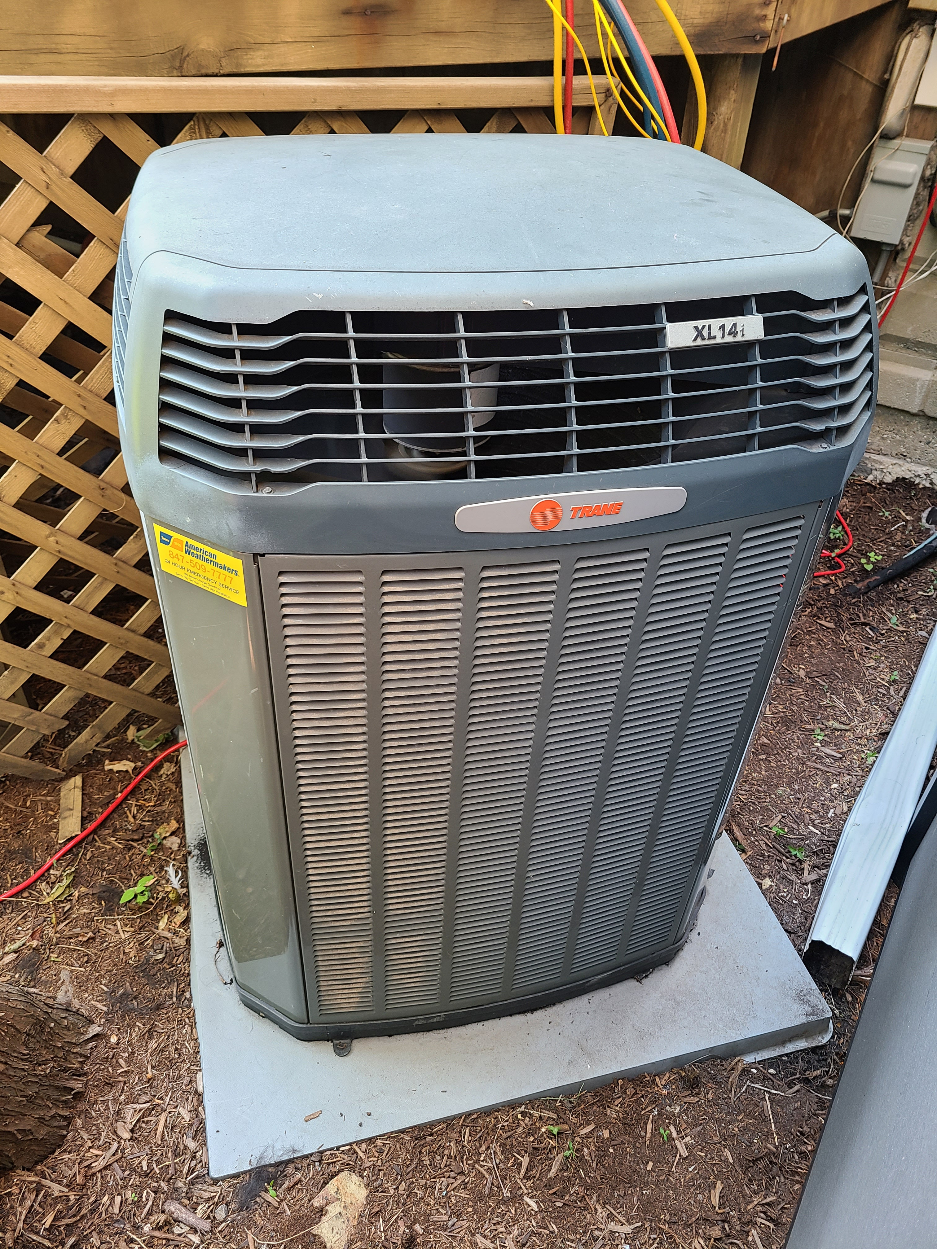 Photo of trane condenser after repair