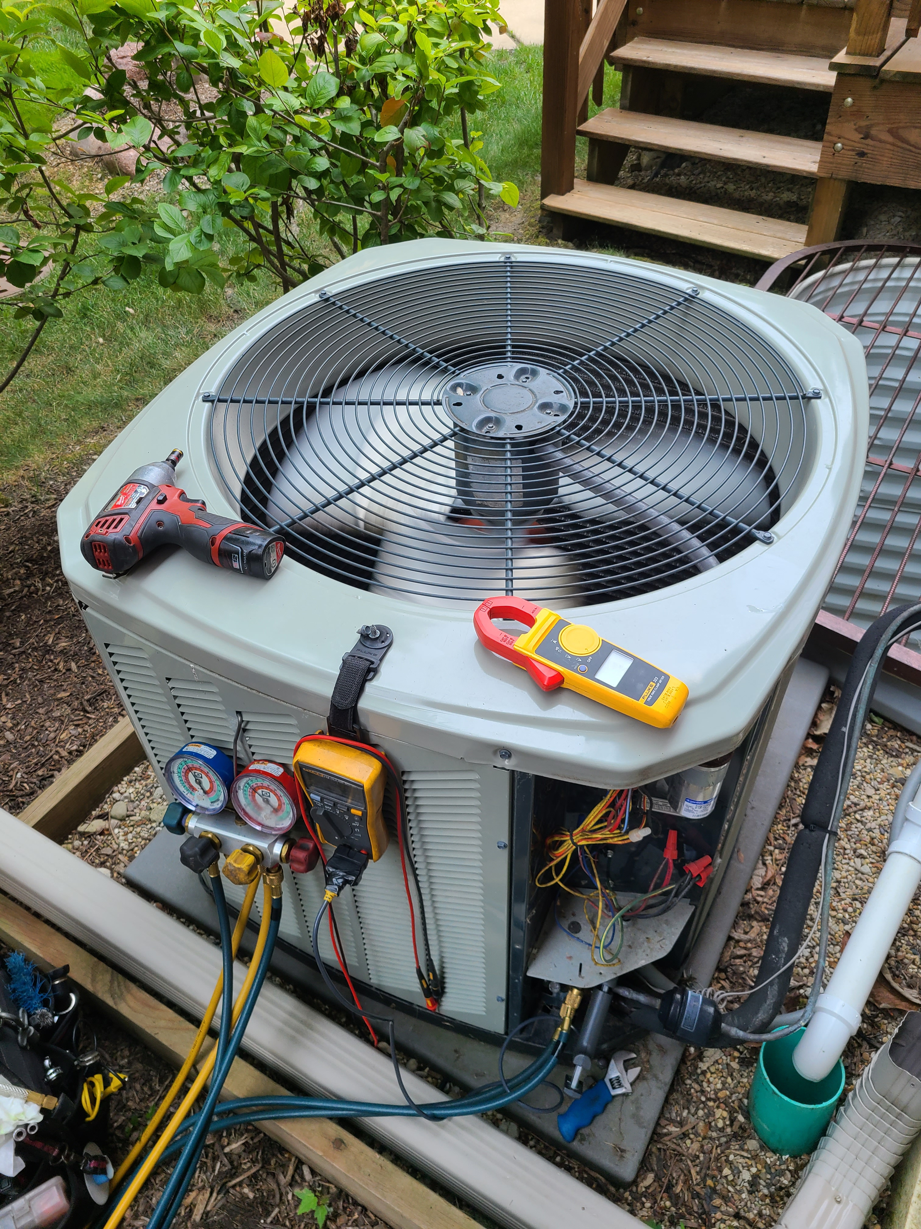 American Standard ac summer tune up. System cleaned and checked and ready for summer.