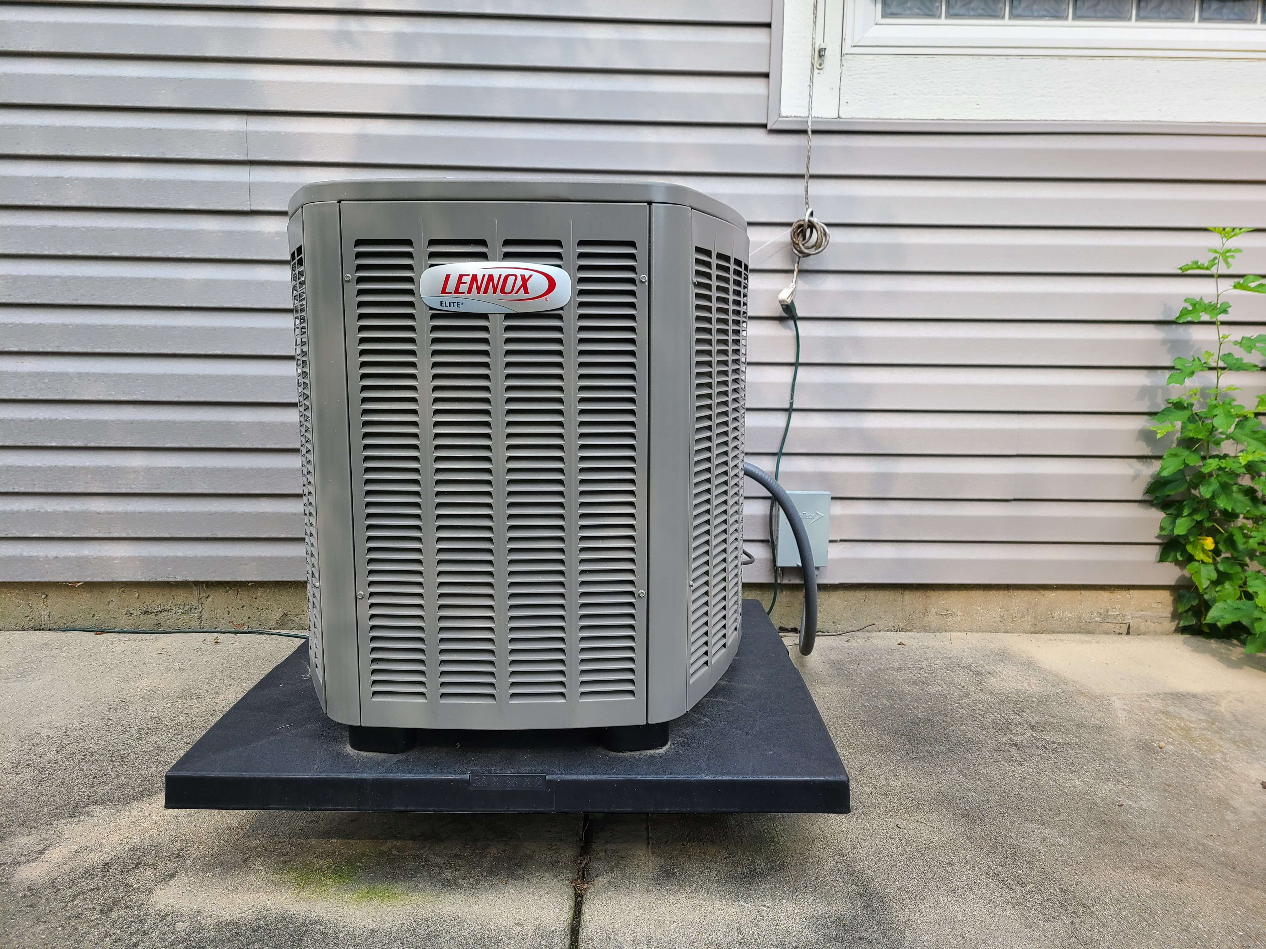 Photo of Lennox condenser after CTS
