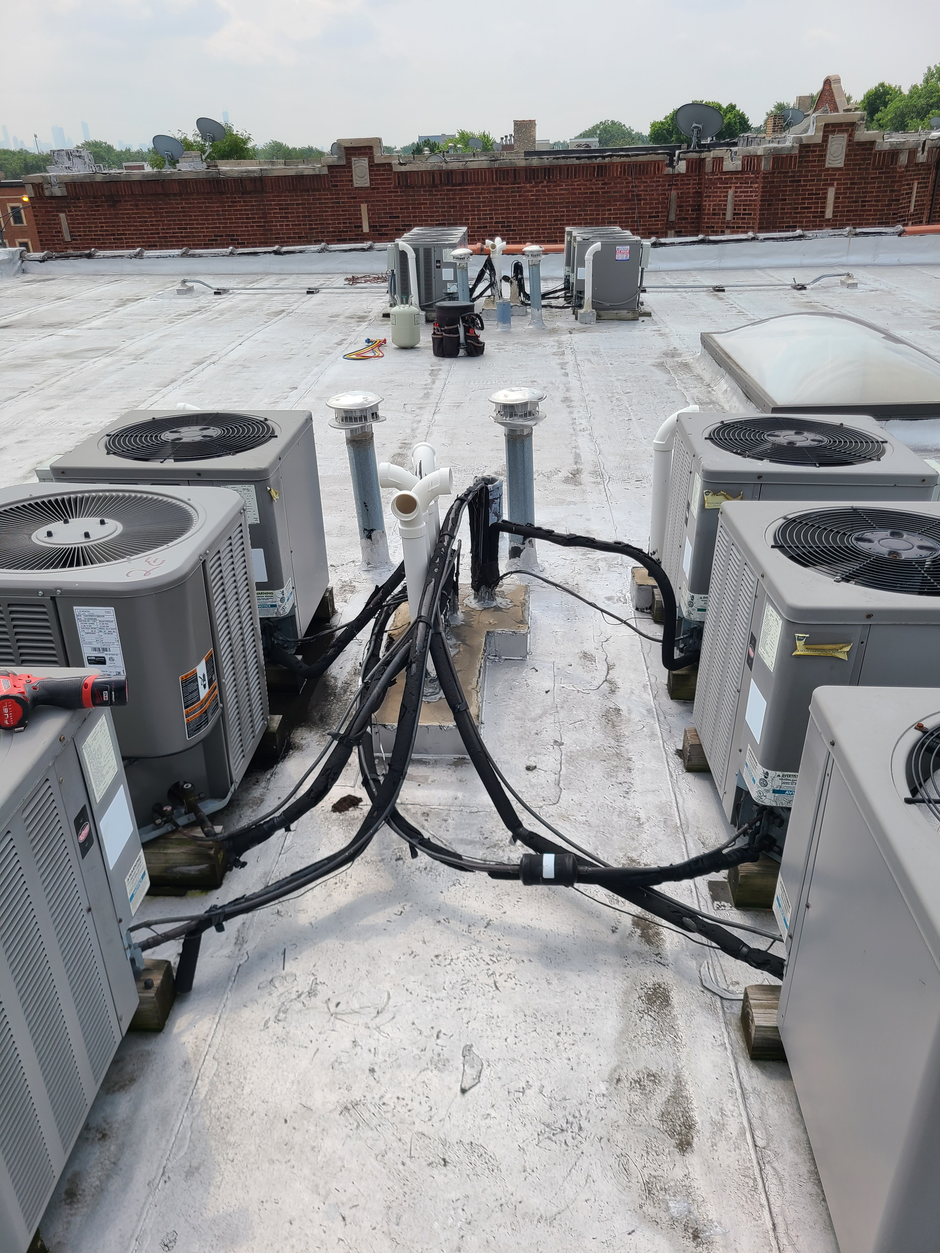 12 units...weatherking Lennox ruud...cleaned tested gassed repairs made