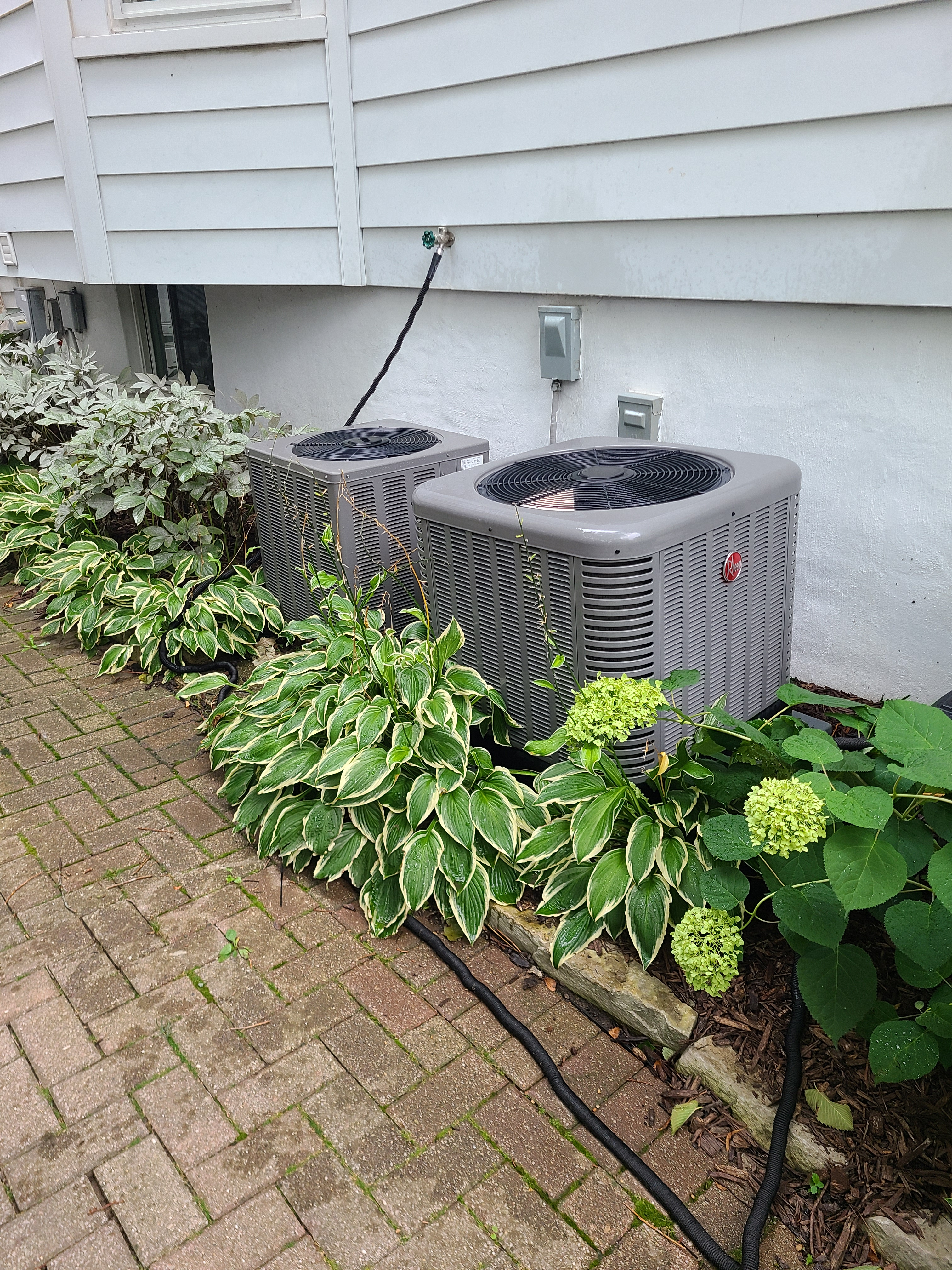 2 RHEEM r410a systems cleaned and tested