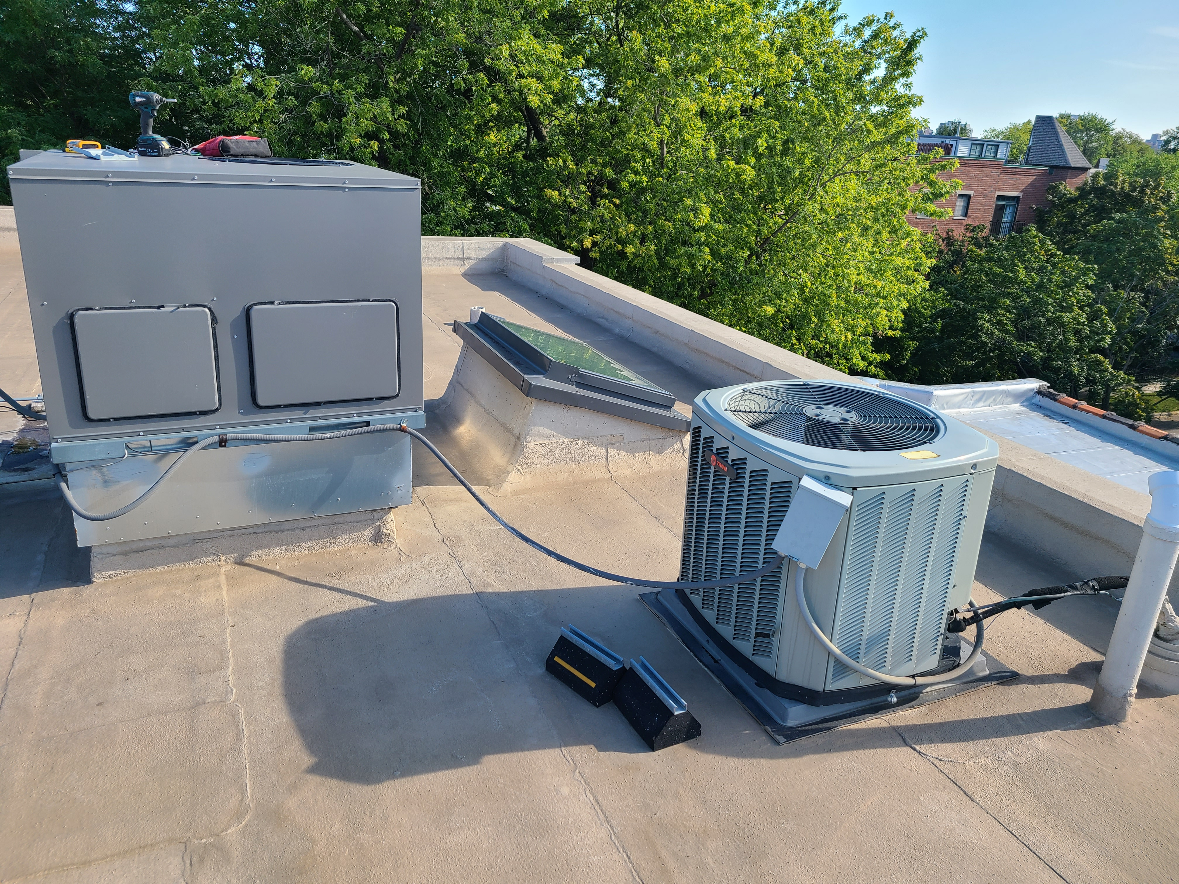 Performed routine maintenance on rooftop units in Chicago  Ruud Trane