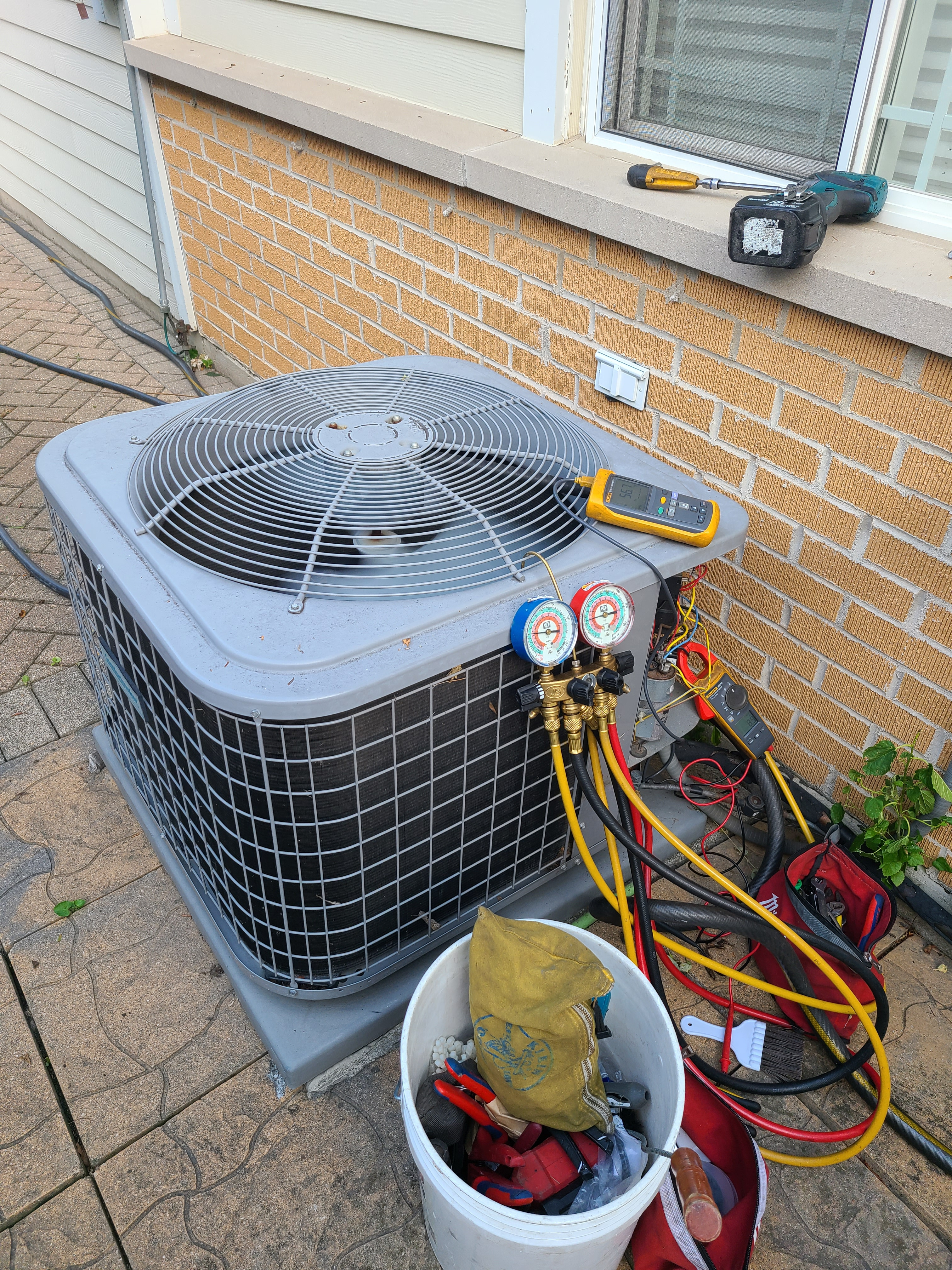 Routine maintenance on ac system working great!  Niles Comfortmaker