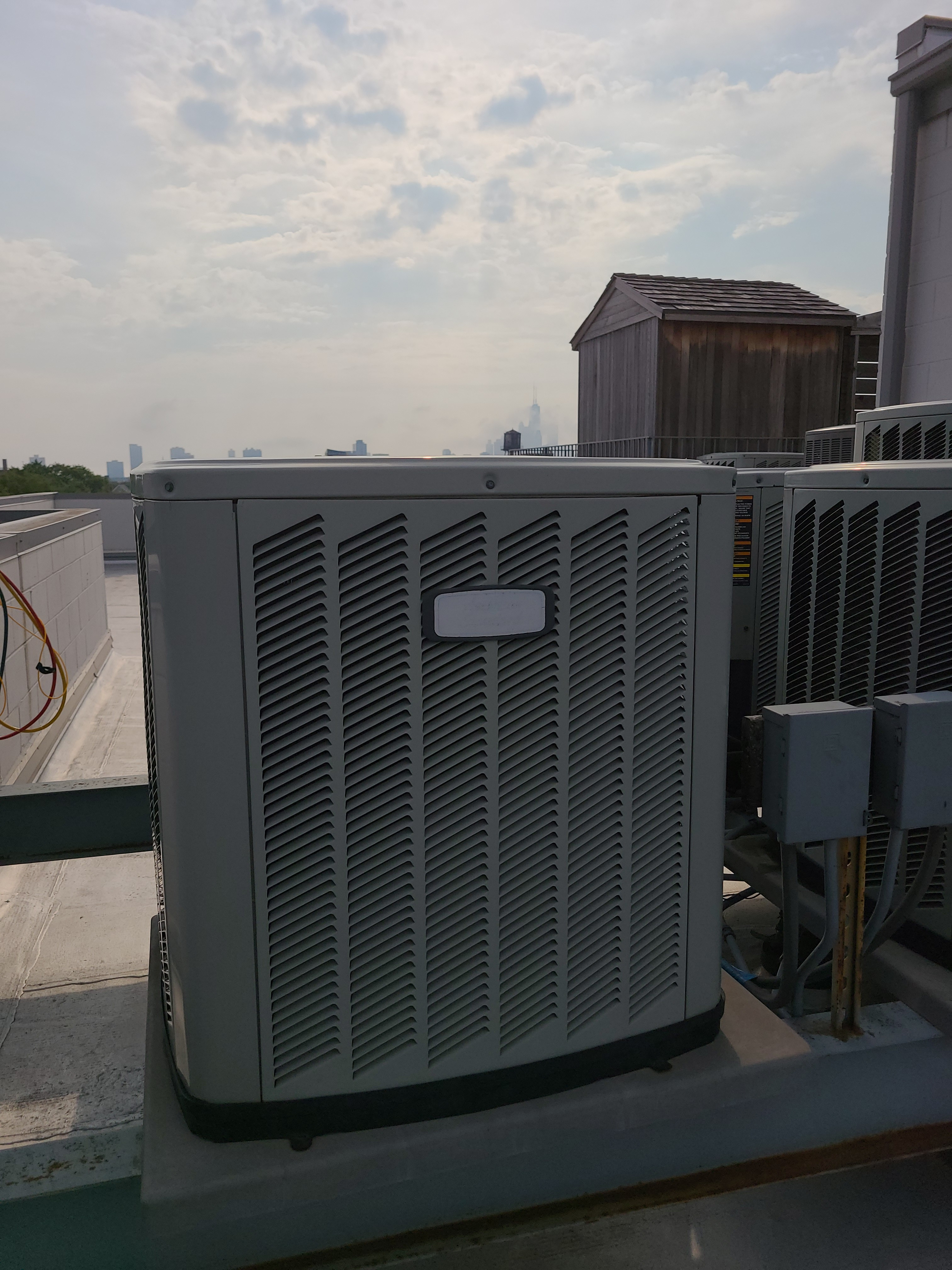 Photo of American Standard condenser during tune up.