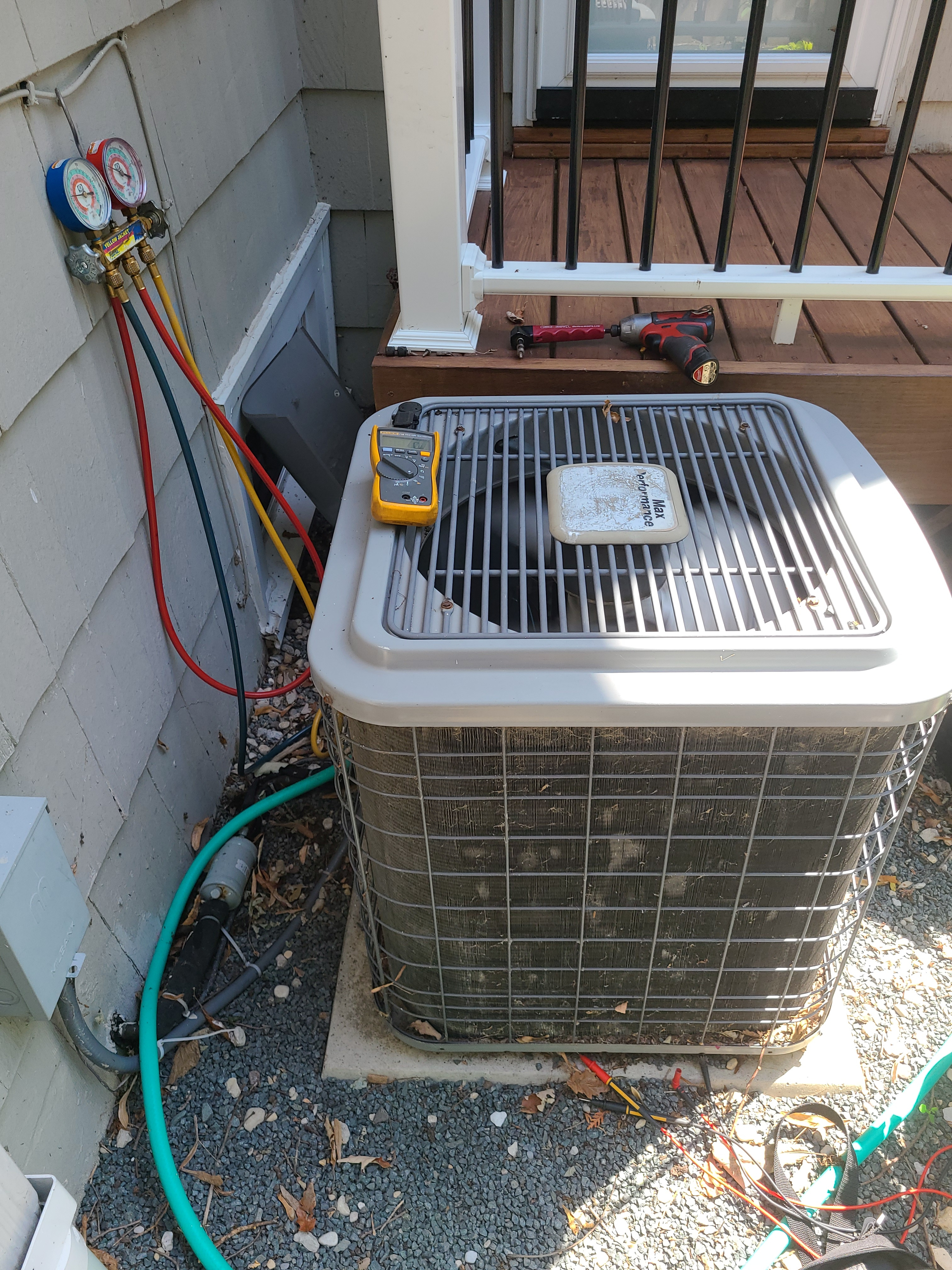 Heil summer air conditioning cleaning check. System tuned up and ready for summer.
