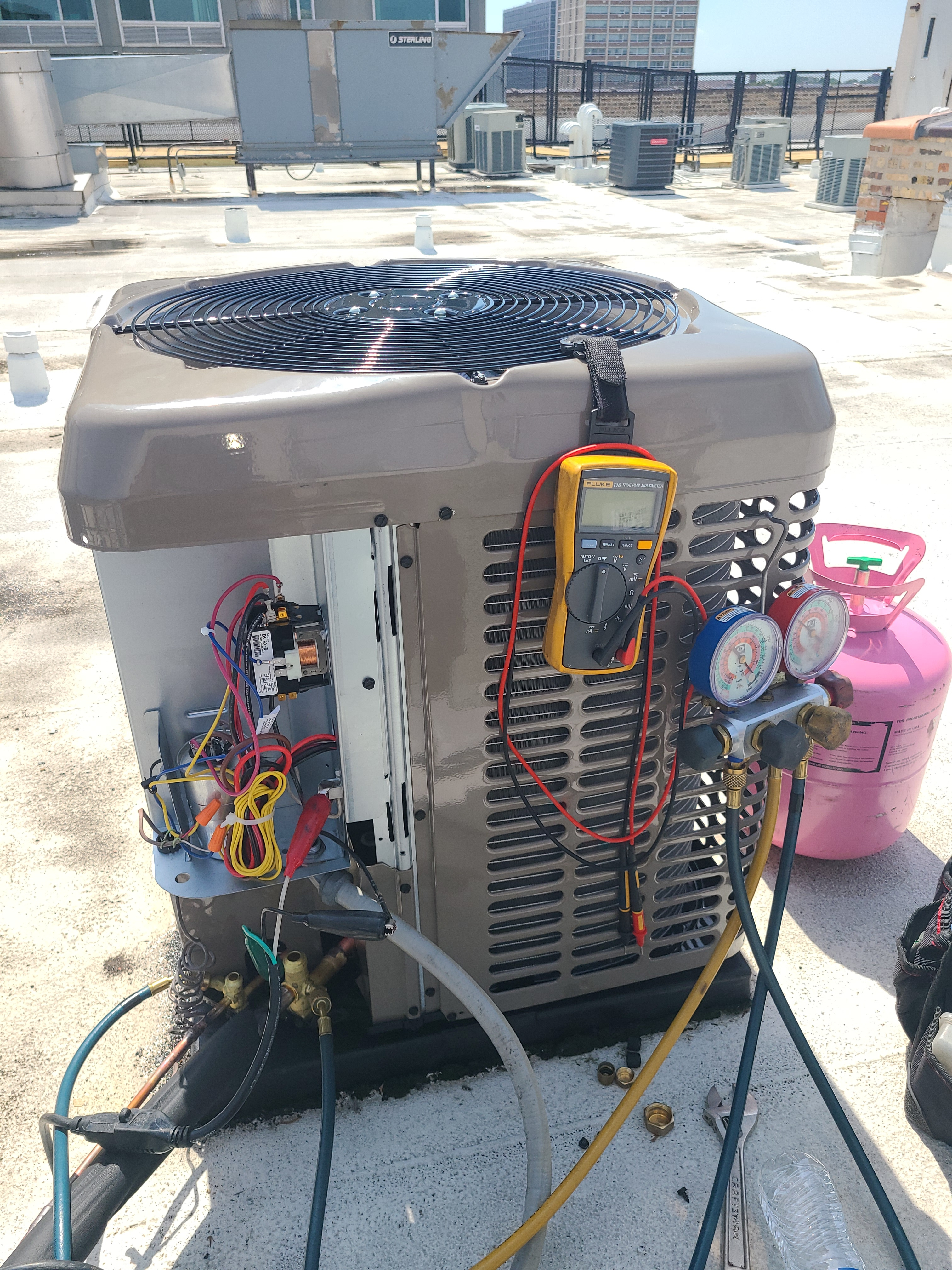 Installation of new York air conditioning system.