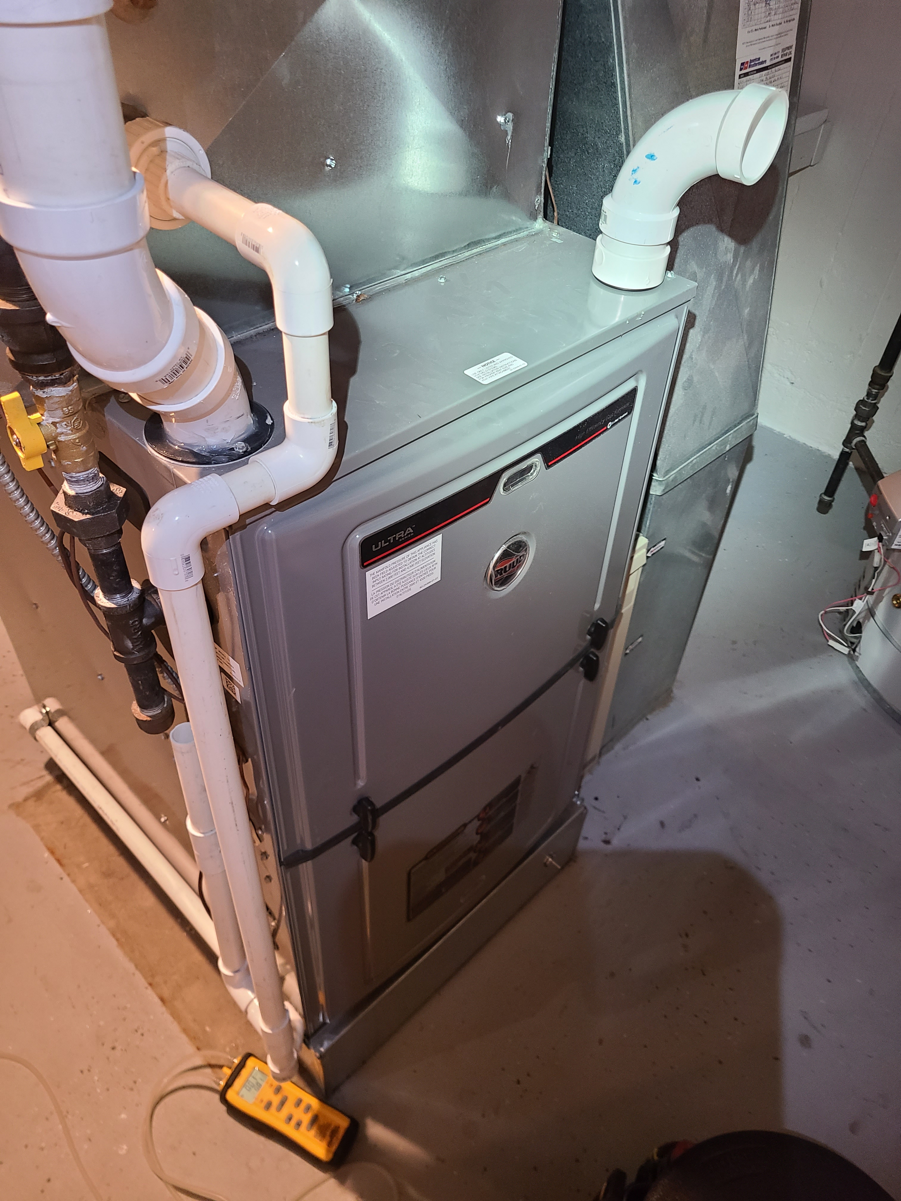 Ruud 95% efficiency furnace cleaned and tested