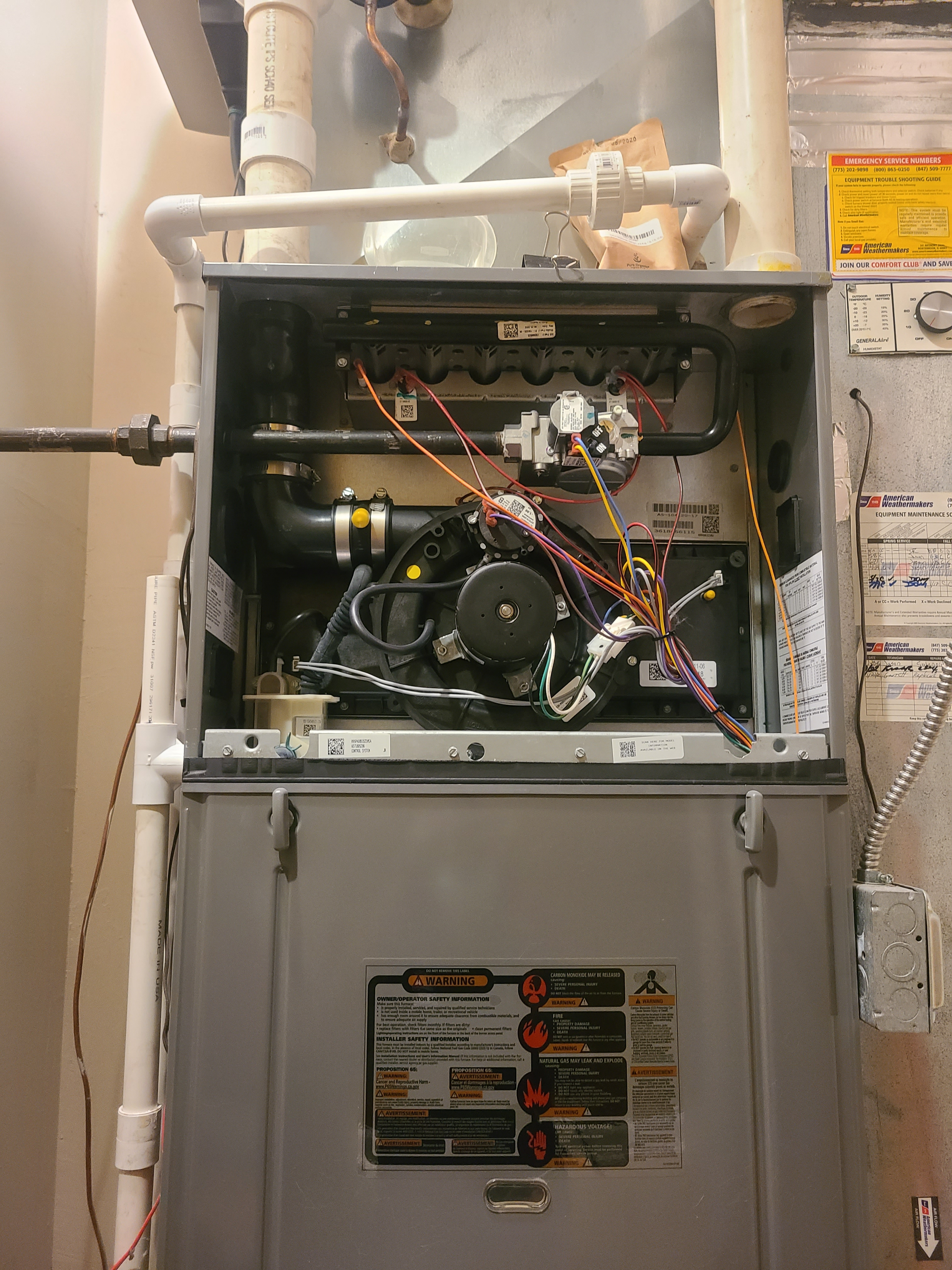 Furnace and humidifier maintenance in Chicago getting ready for winter