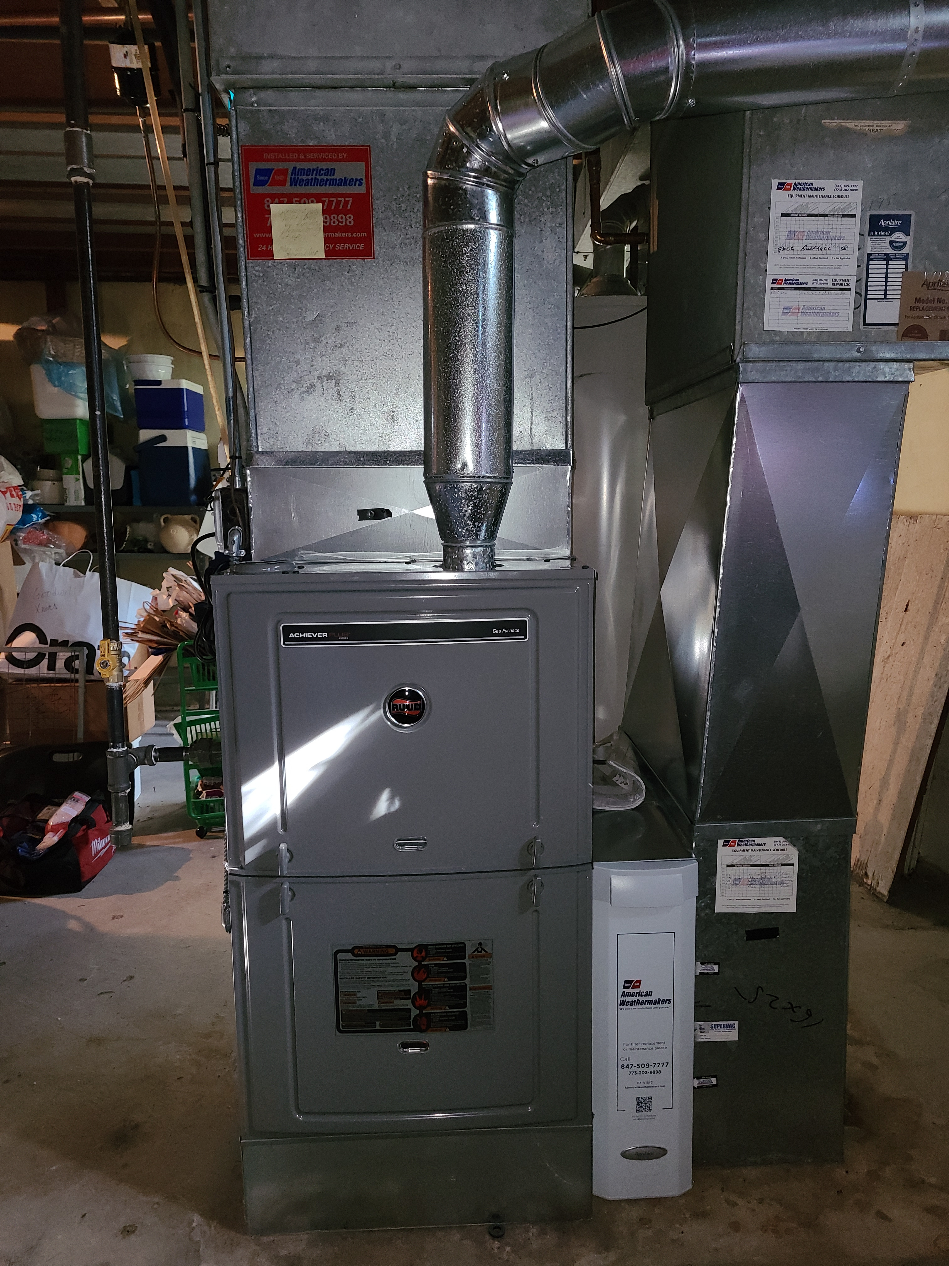 Photo of Ruud furnace after CTS
