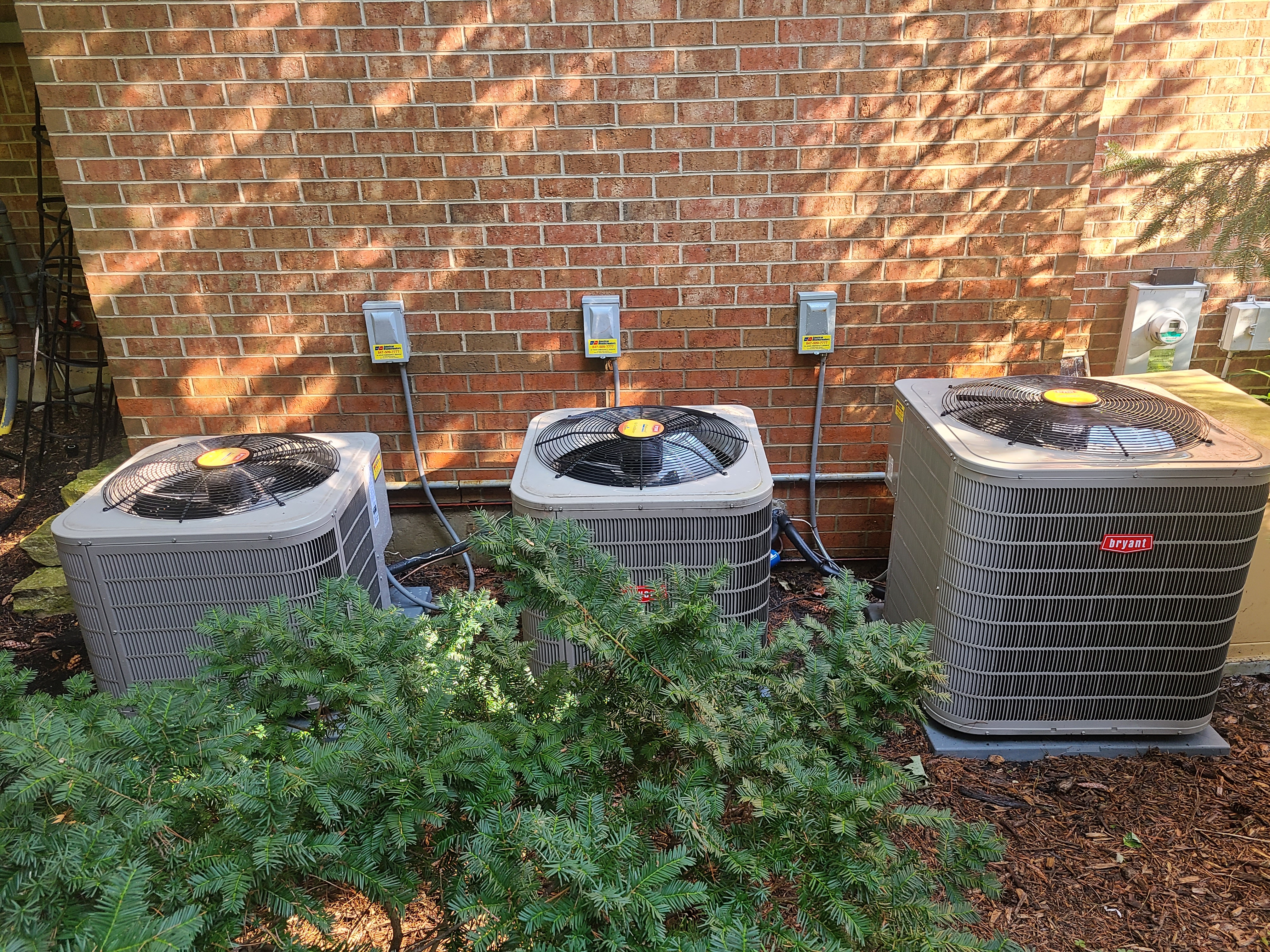 Cleaning condenser coils on a maintenance.