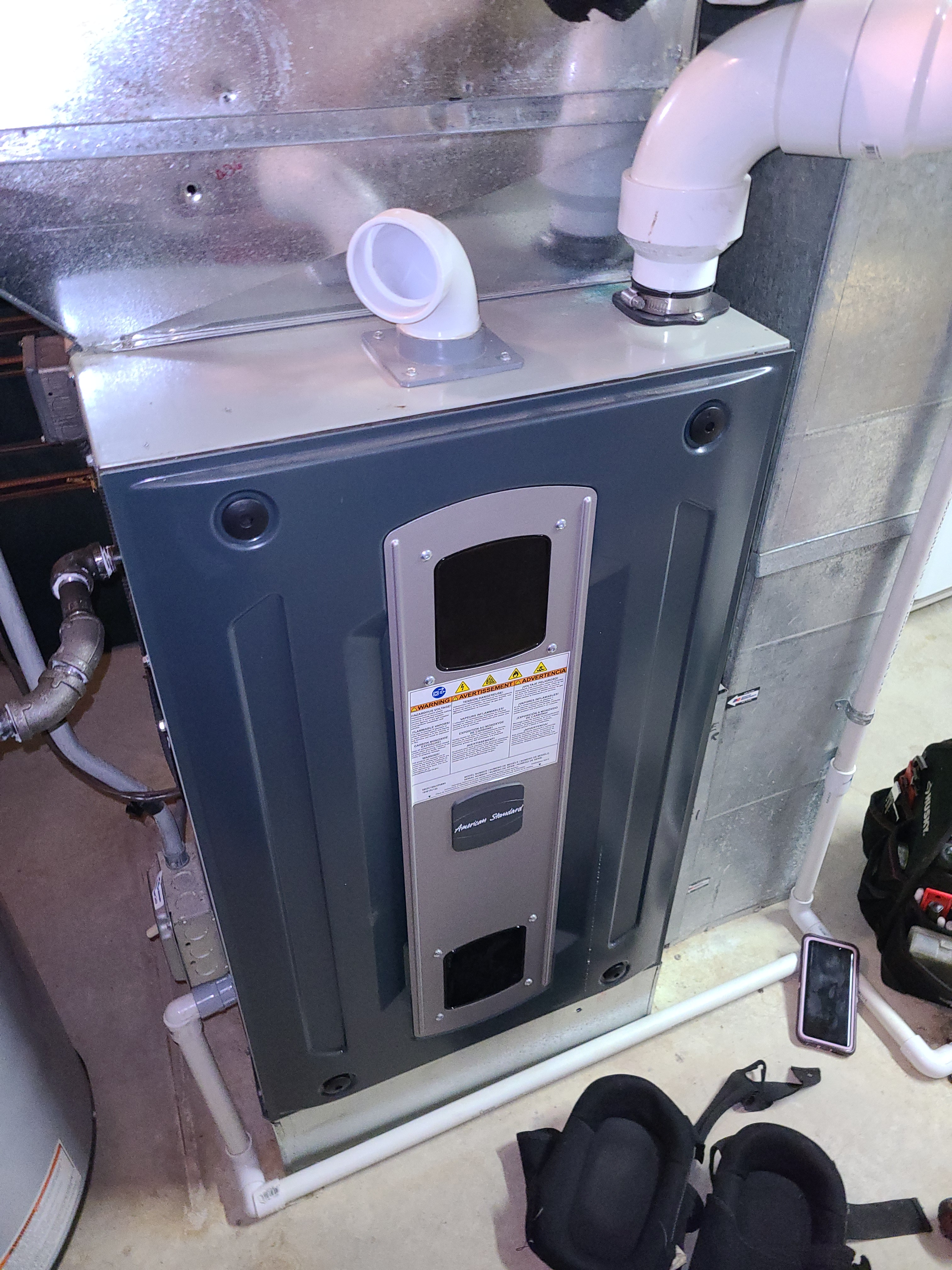 American Standard furnace fall tune up. System cleaned and checked and ready for winter.