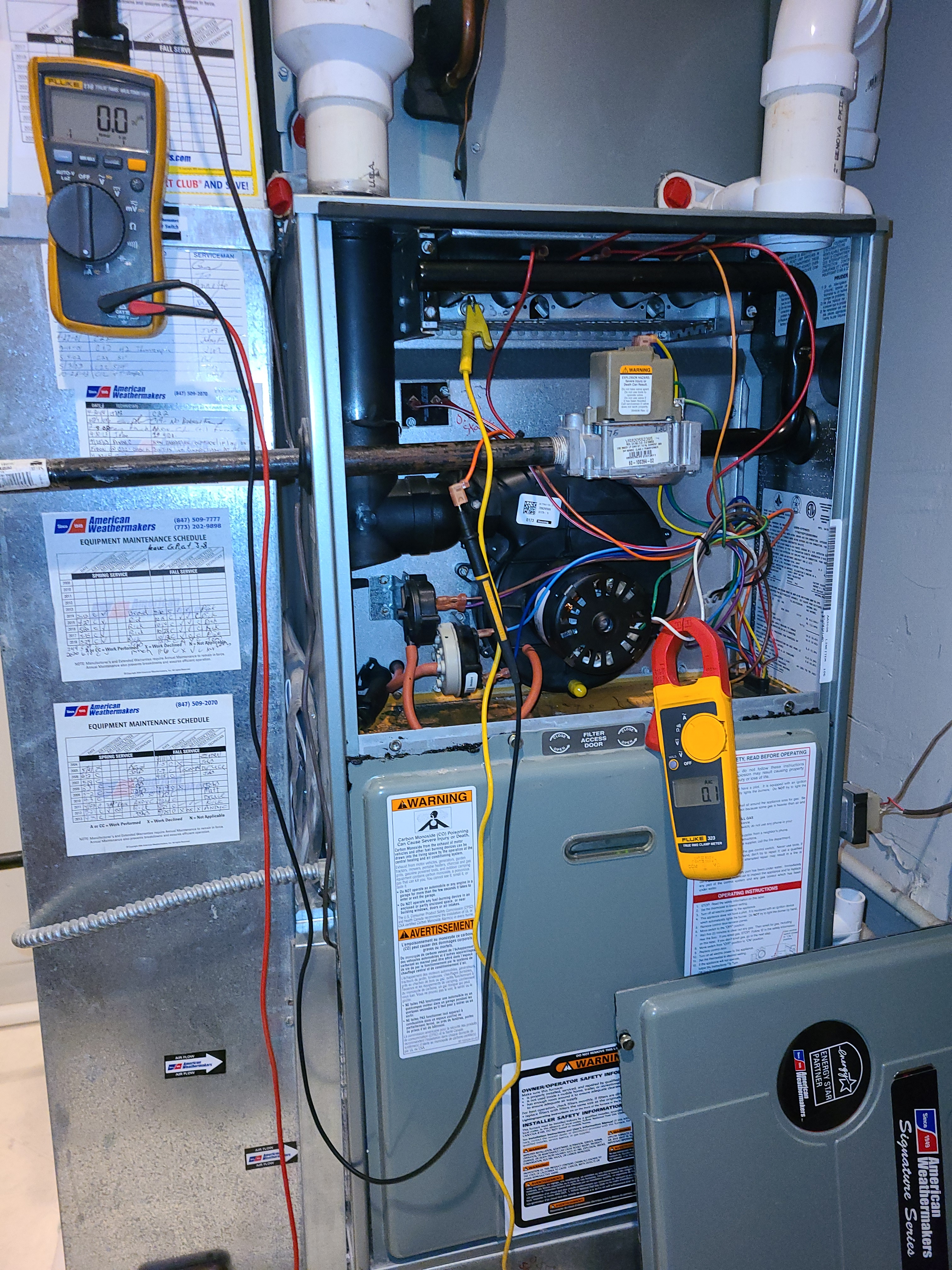 Rheem furnace fall tune up. System cleaned and checked and ready for winter.