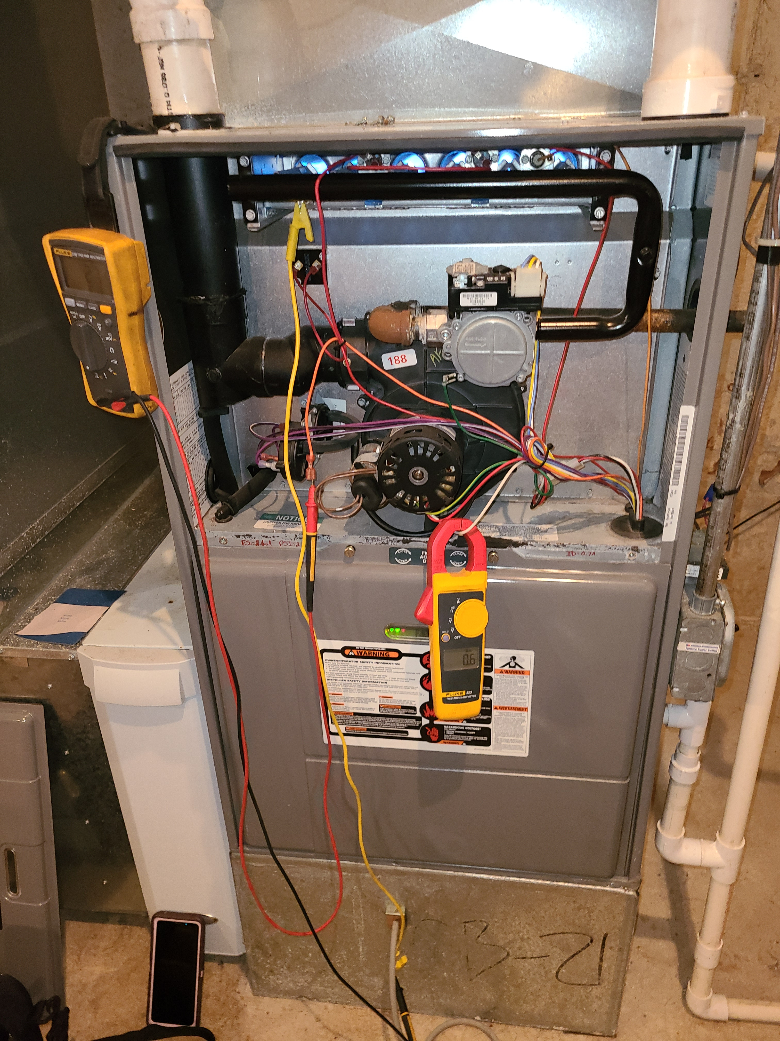 Ruud furnace fall tune up. System cleaned and checked and ready for winter.