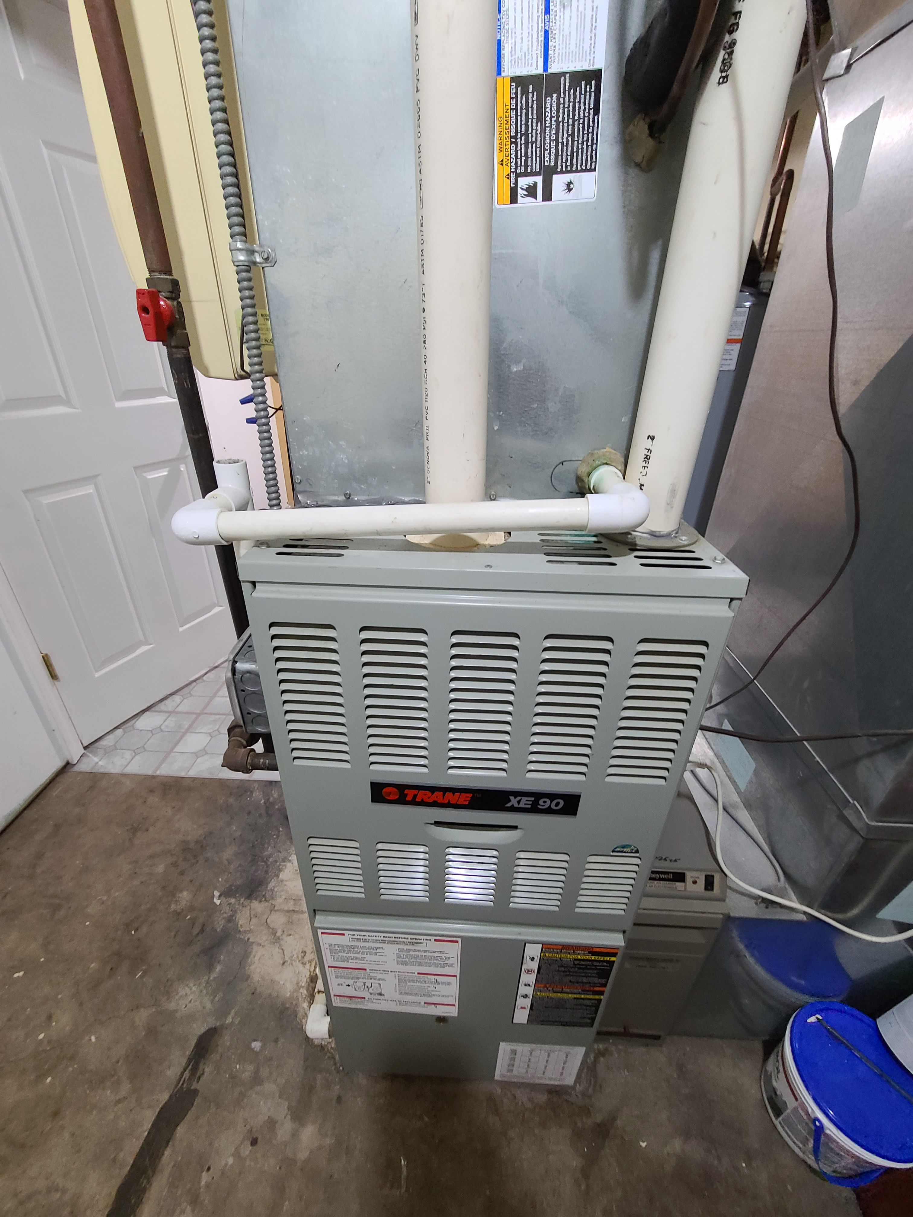 Photo of trane furnace after cts