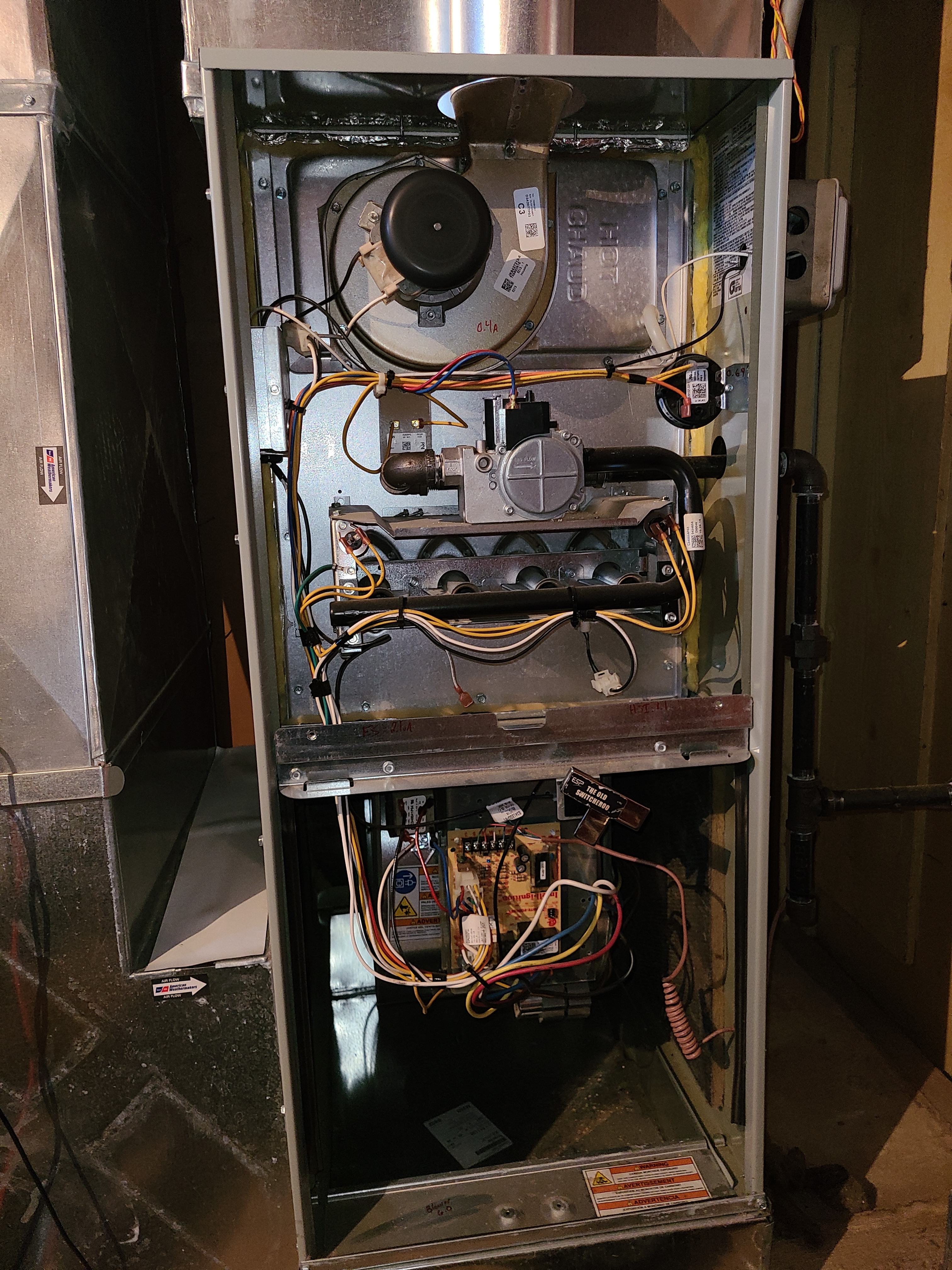 American Standard furnace clean and check. System tuned up and ready for winter.