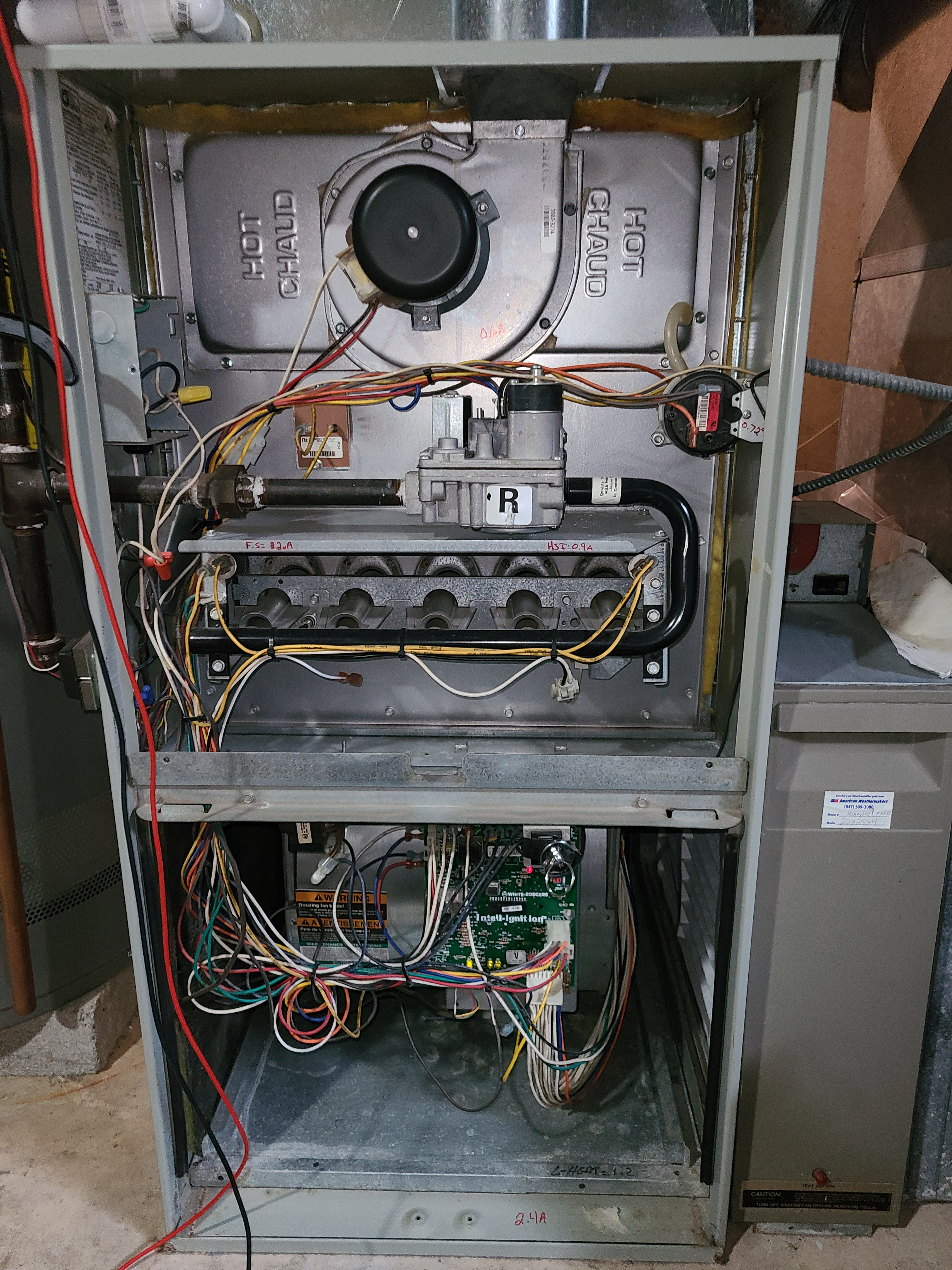 Tranr furnace fall clean and check. System tuned up and ready for winter.