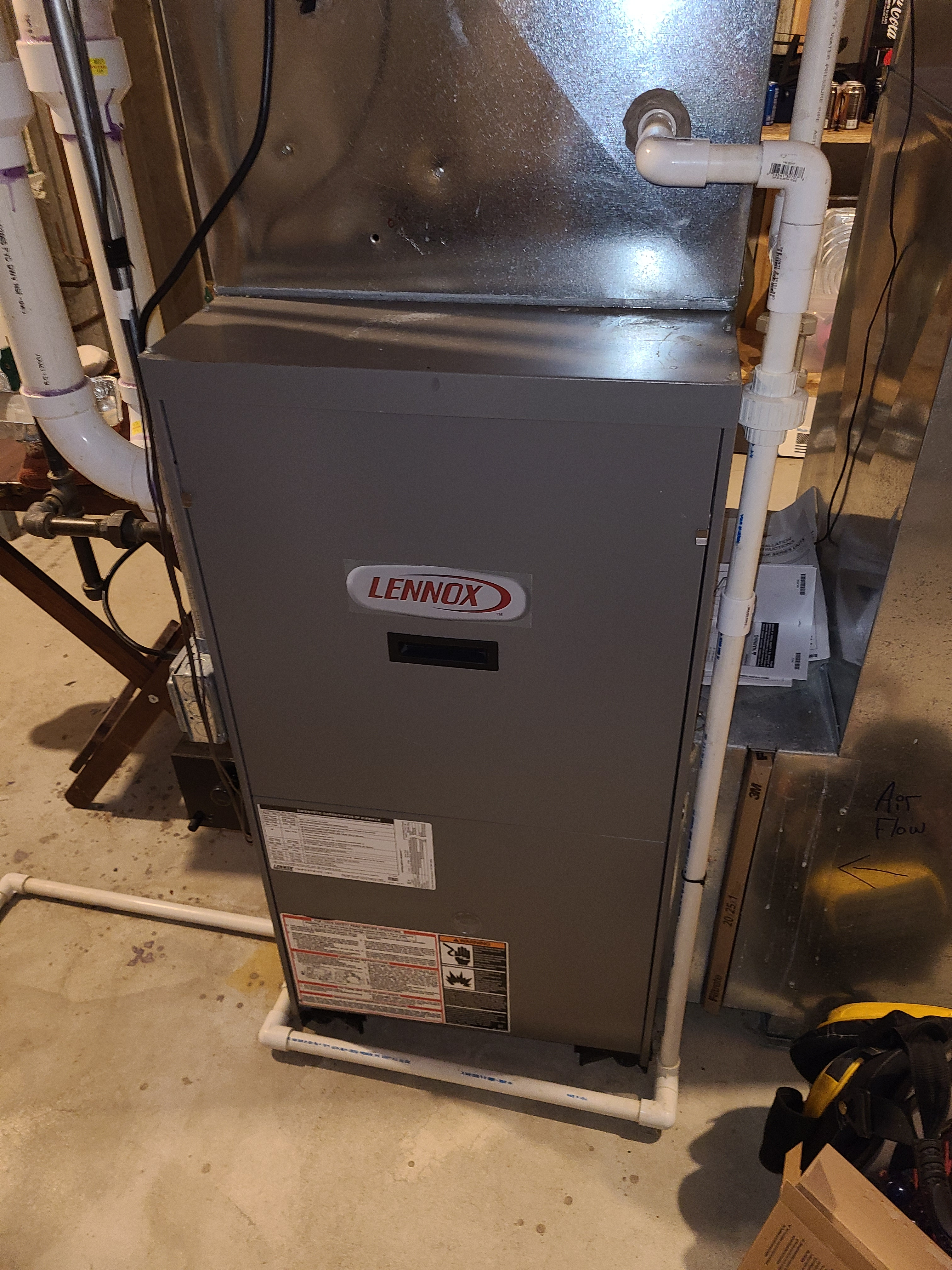 Lennox furnace fall clean and check. System tuned up and ready for winter.