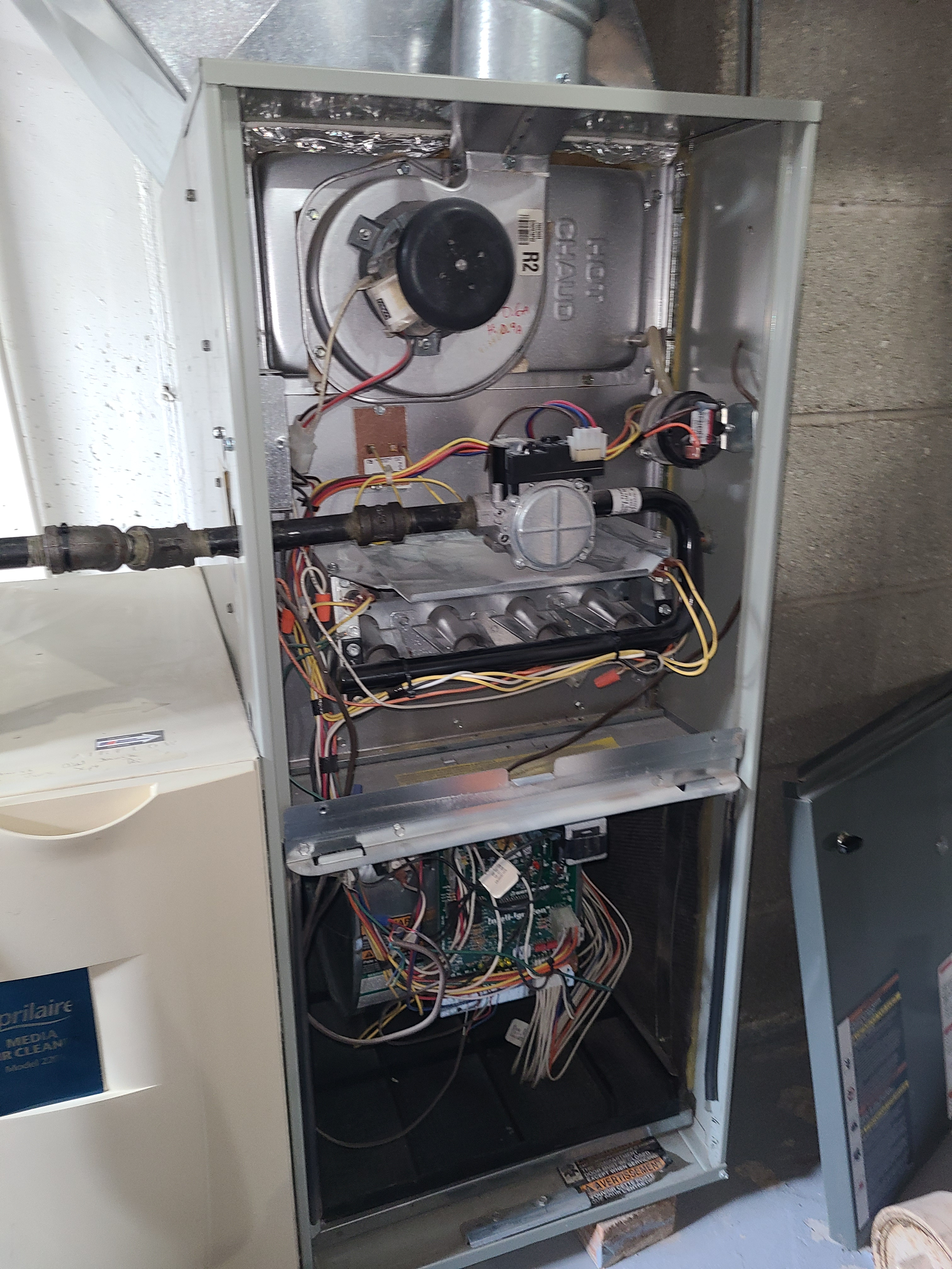 Trane furnace fall clean and check. System tuned up and ready for winter.