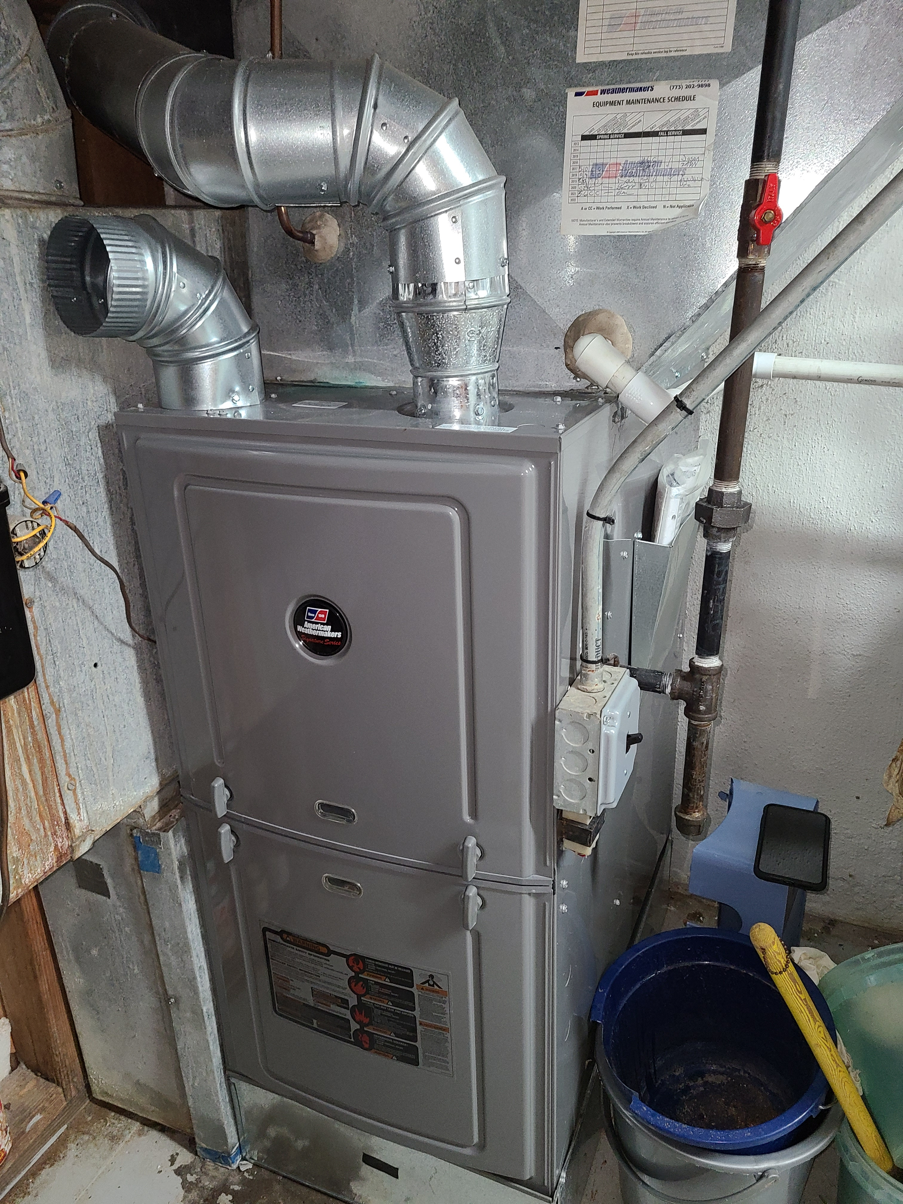 Photo of Rheem furnace after performing CTS