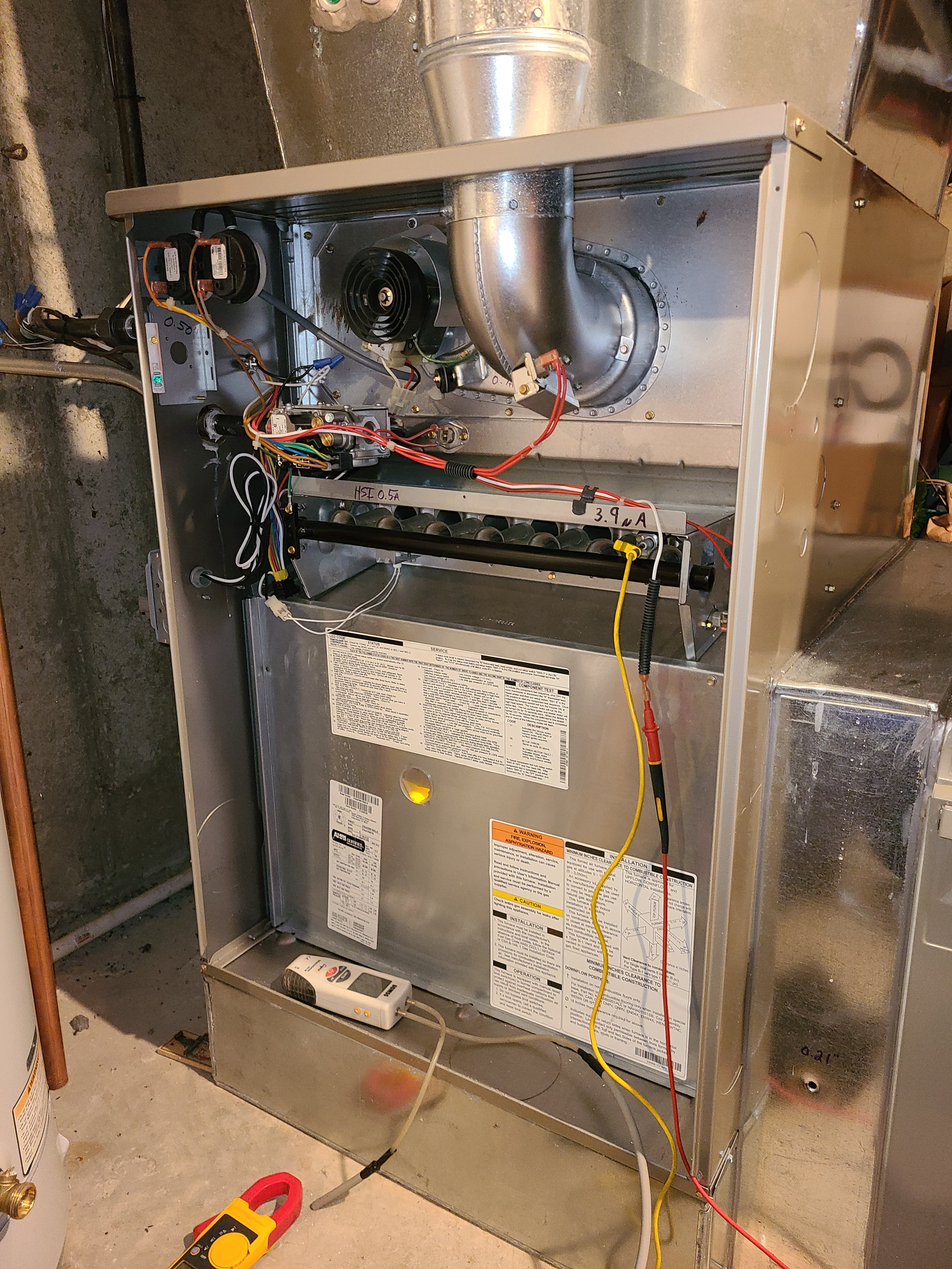 Bryant furnace fall clean and check. System tuned up and ready for winter.