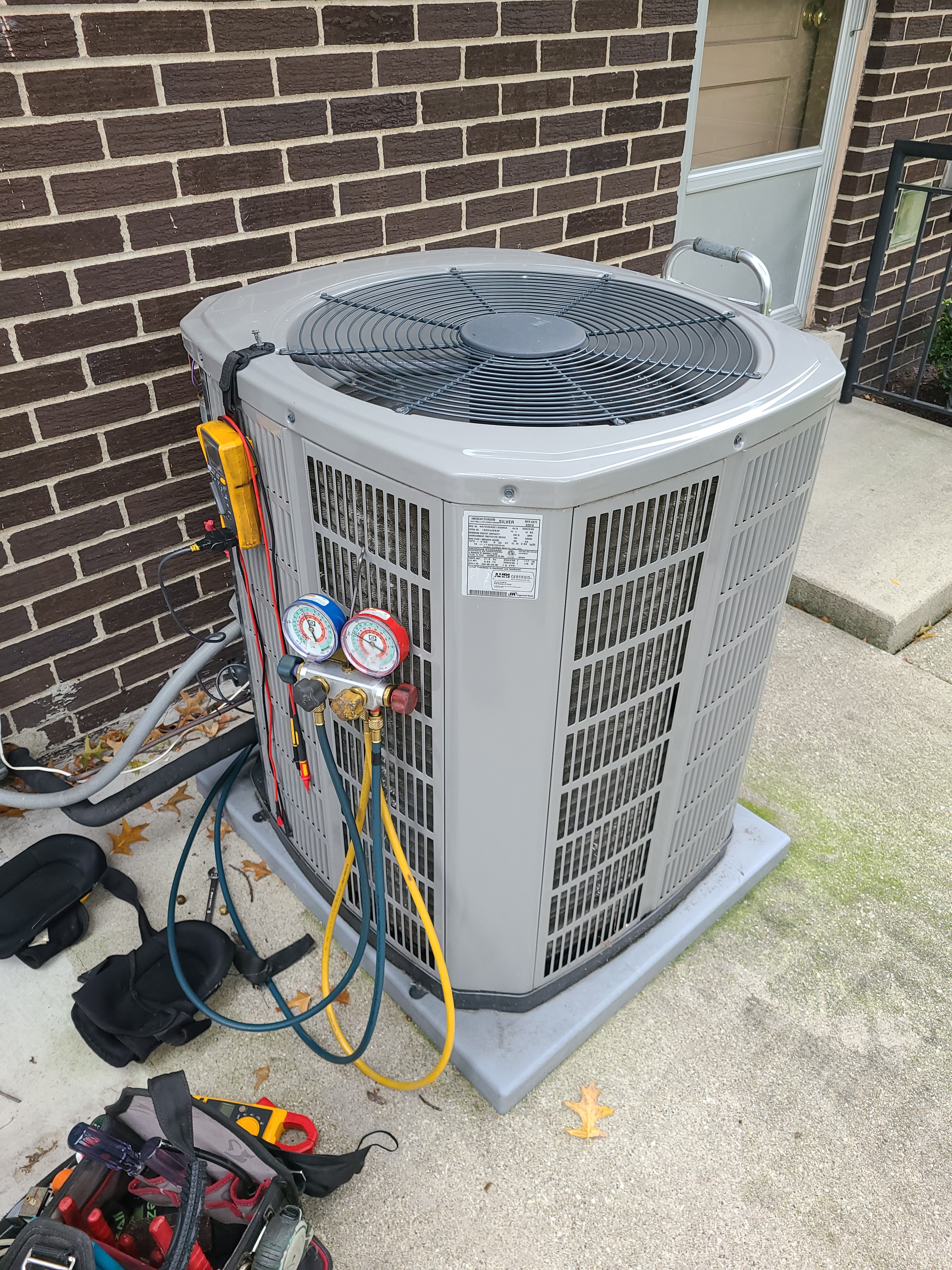 American Standard ac summer clean and check. System tuned up and ready for use.