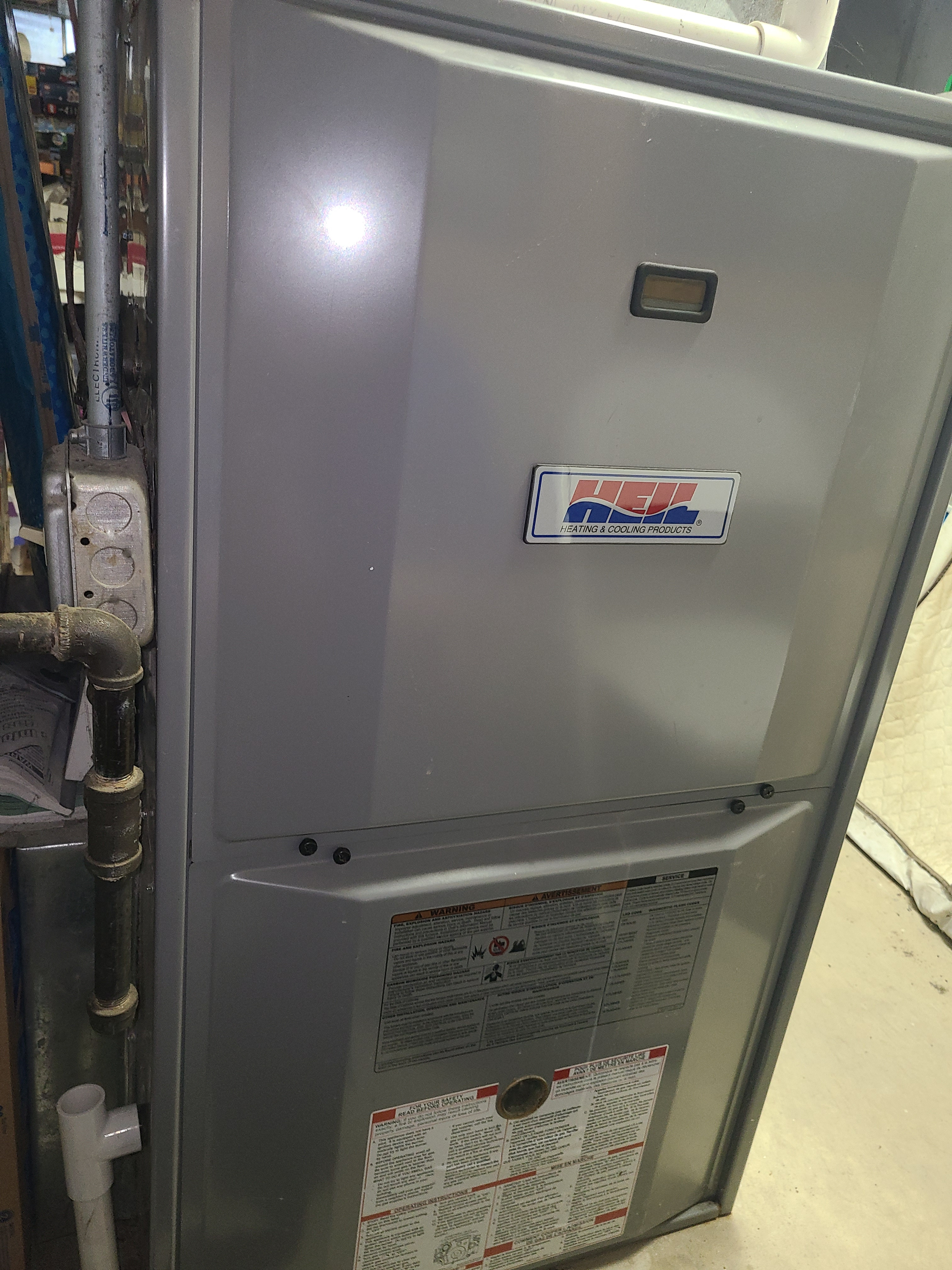 Heil furnace fall clean and check. System tuned up and ready for winter.