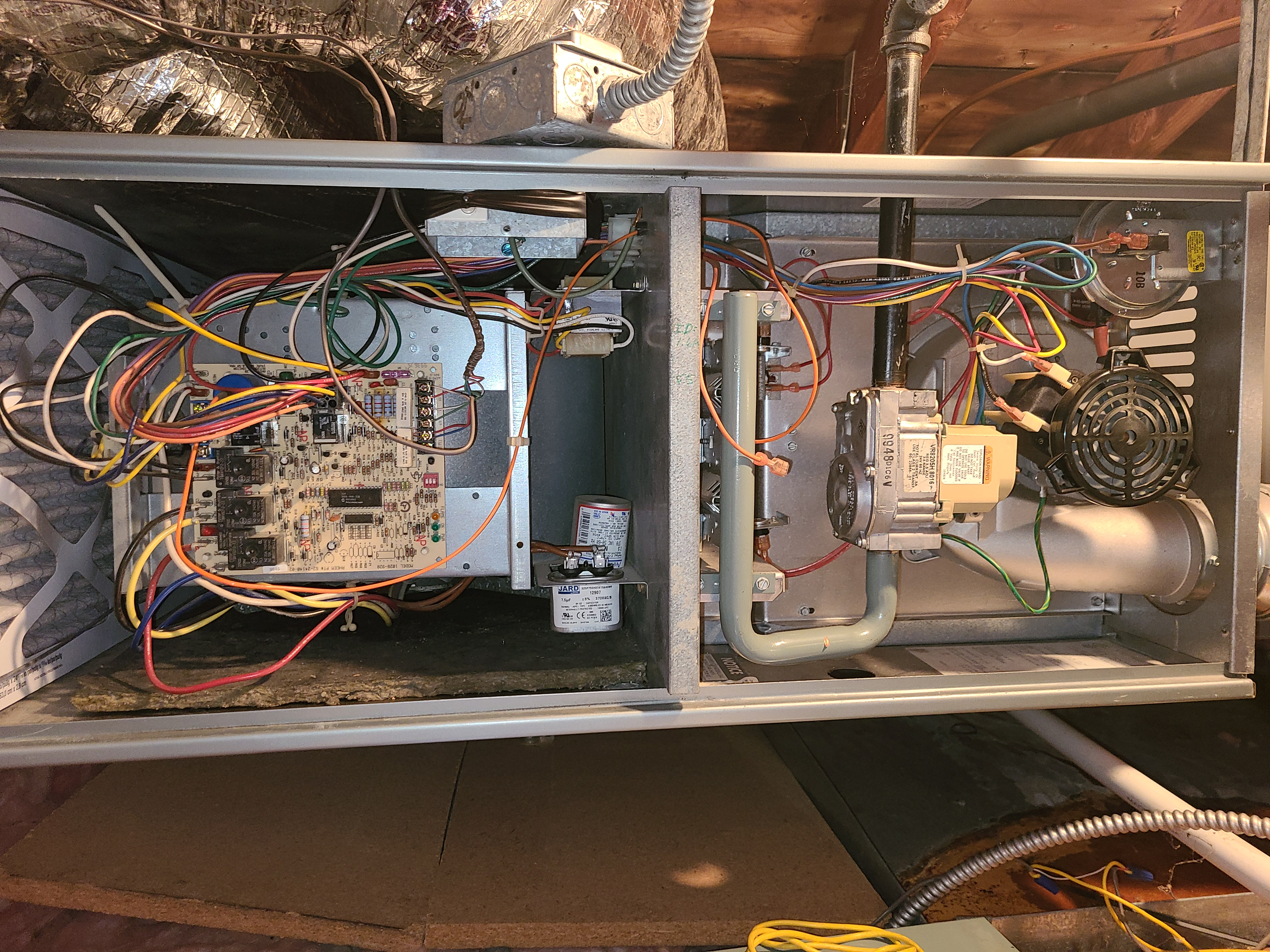 Rheem furnace fall clean and check. System tuned up and ready for winter.