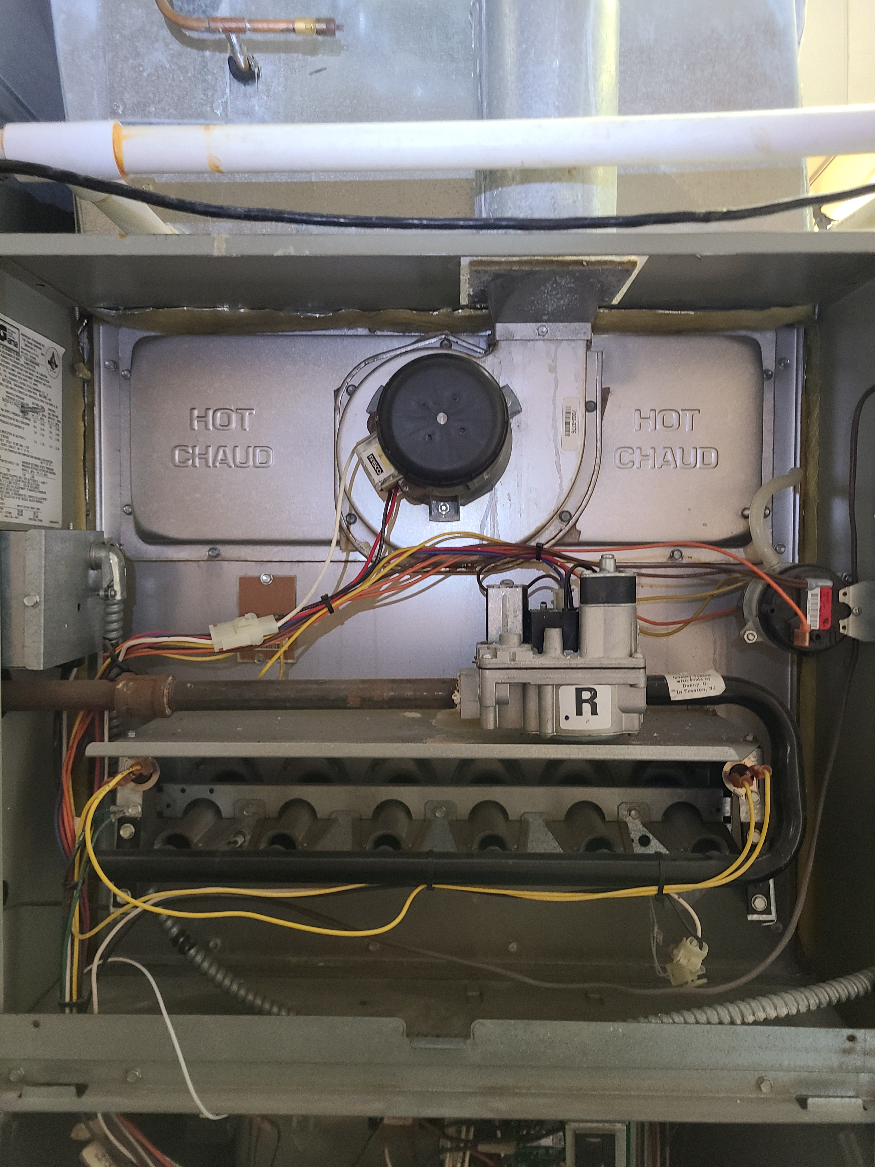 Trane 80% furnace  Clean and tested  Electrical mechanical temperatures pressures