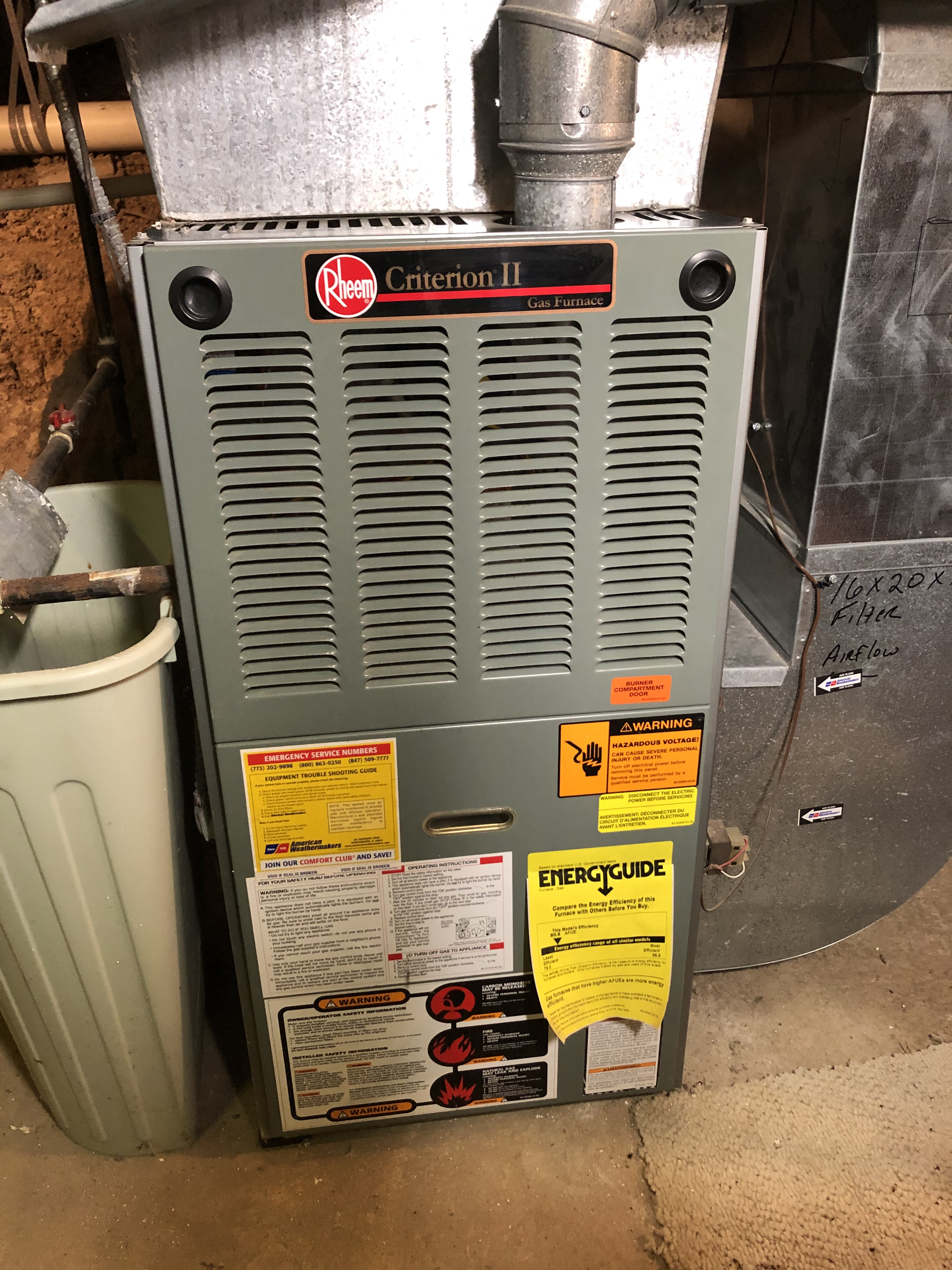 Rheem furnace maintenance