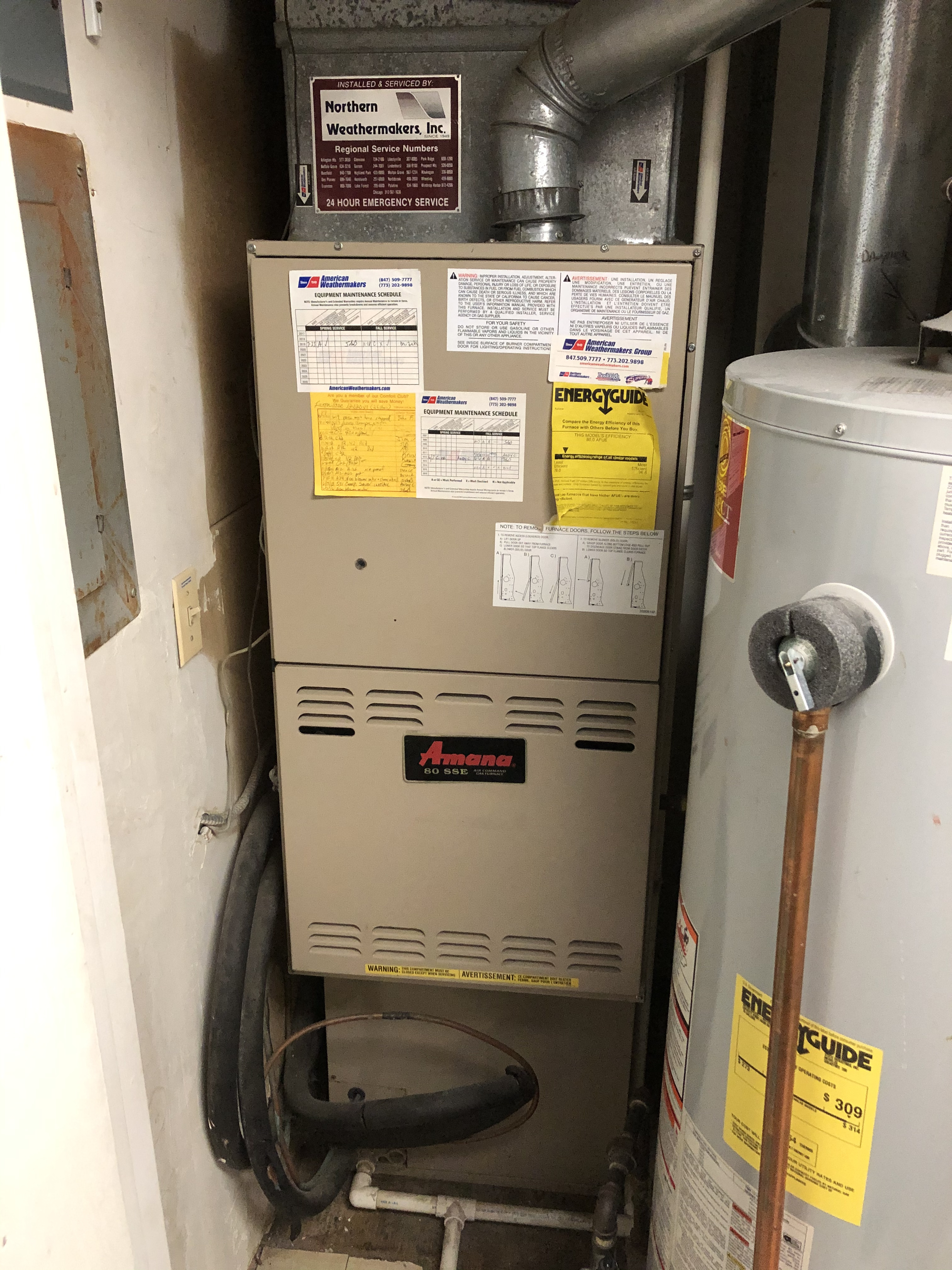 Amana furnace maintenance